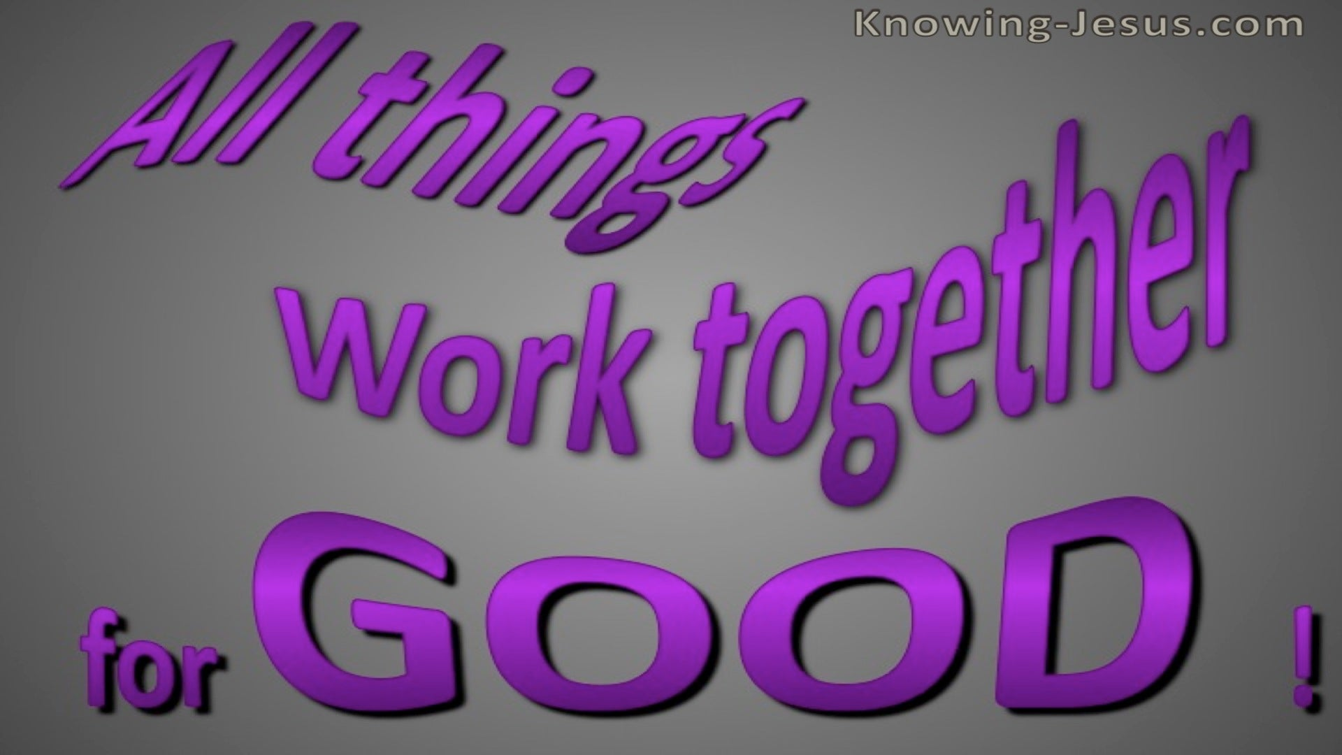 Romans 8:28 All things Work Together (purple)