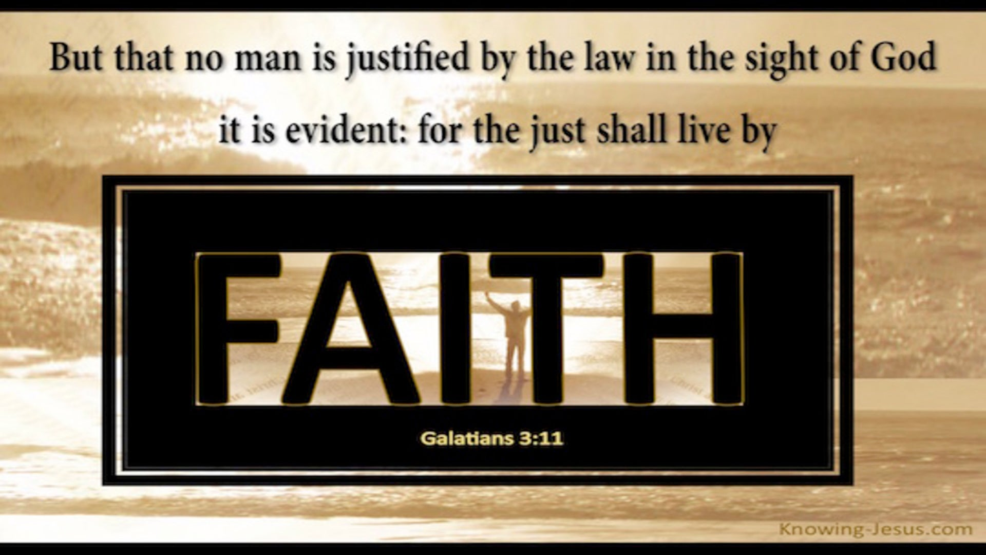 Galatians 3:11 The Just Shall Live By Faith (black)