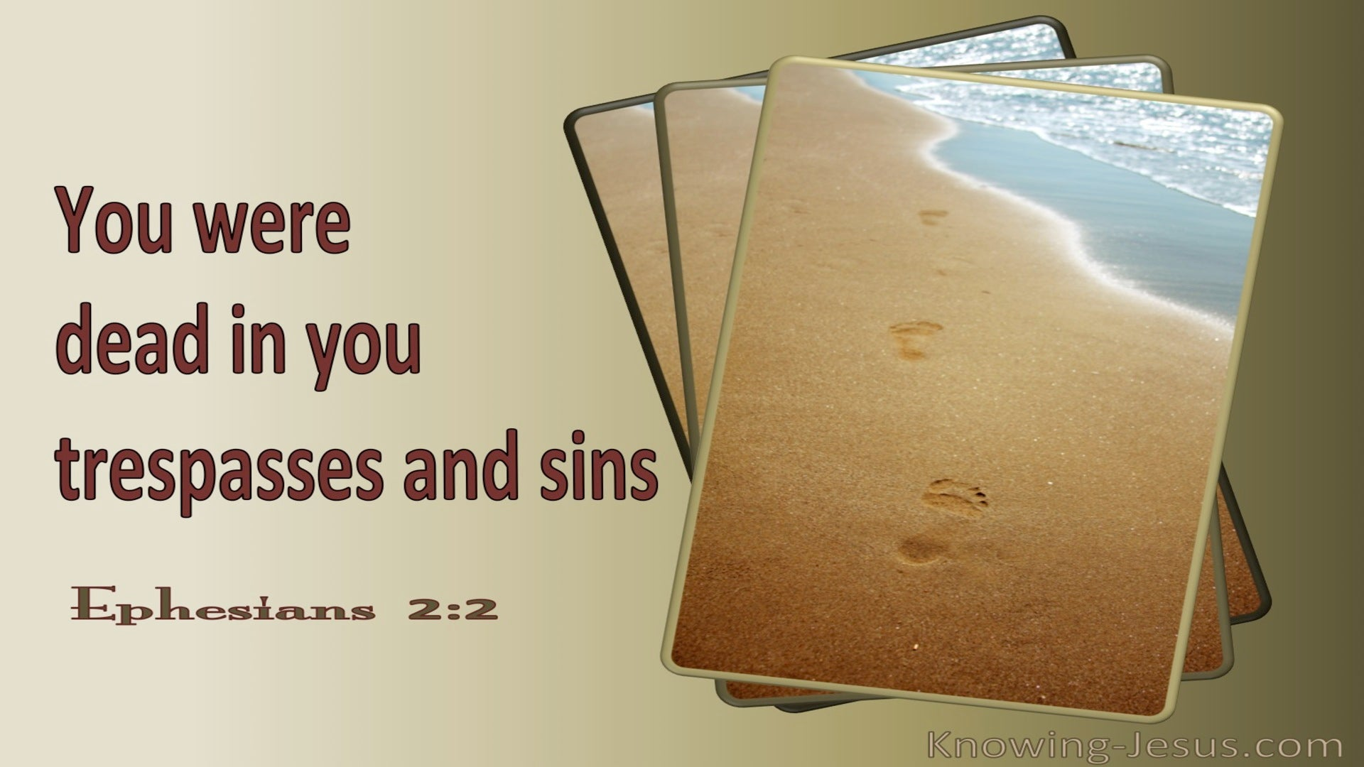 Ephesians 2:2 Sons Of Disobedience (beige)