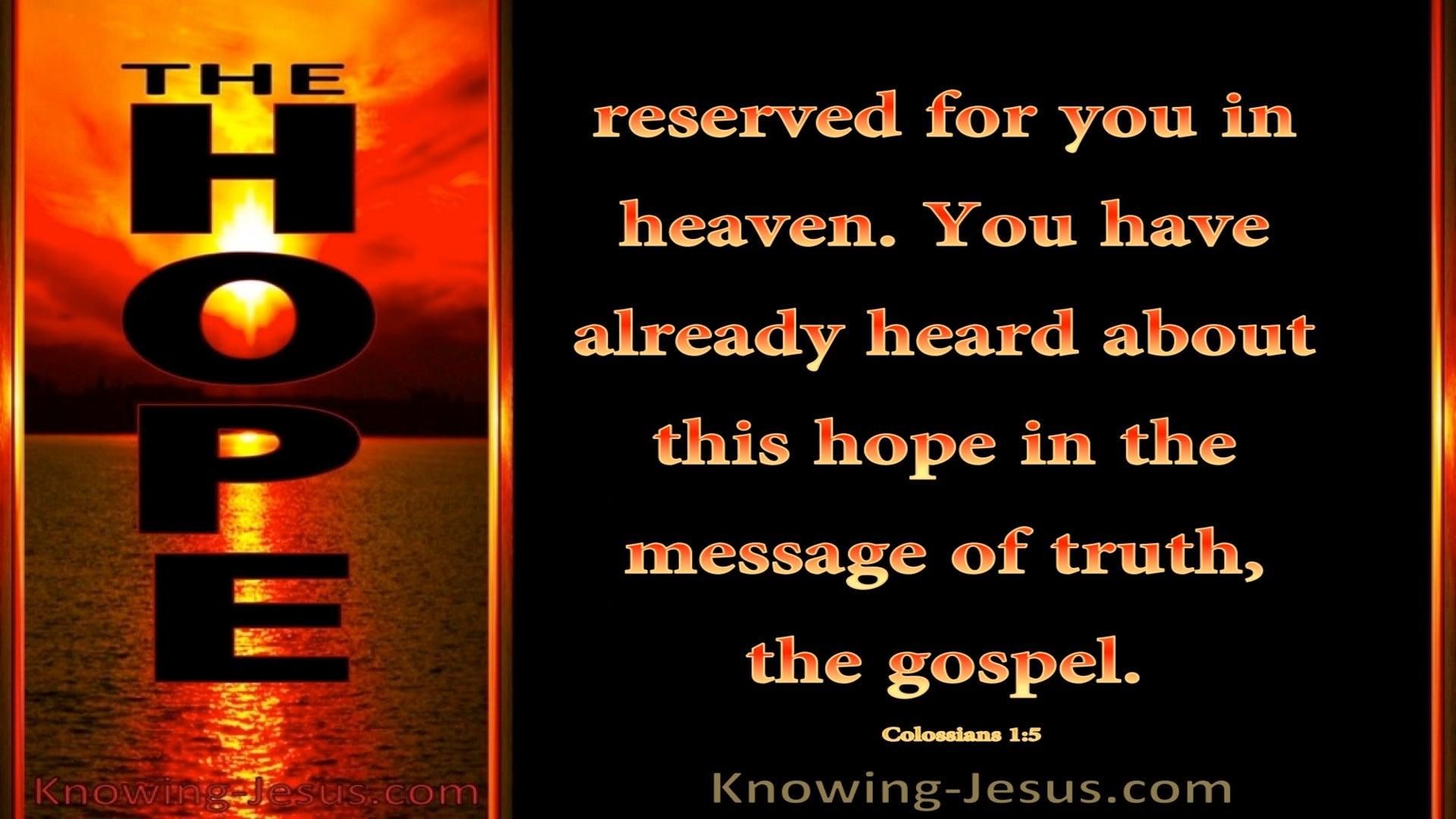 Colossians 1:5 Hope Reserved for You in Heaven (red)