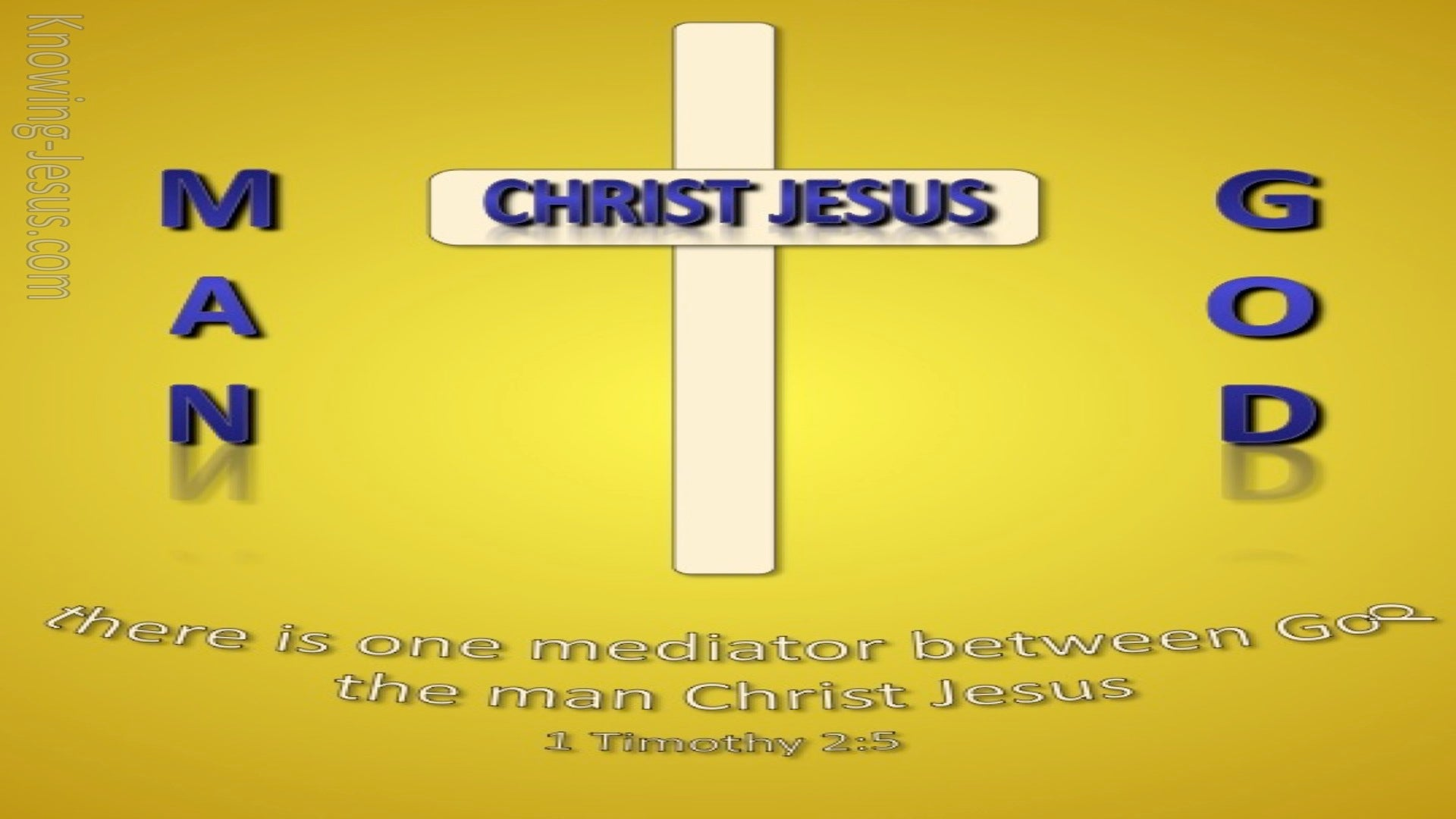 1 Timothy 2:5 One Mediator Between God And Men (gold)