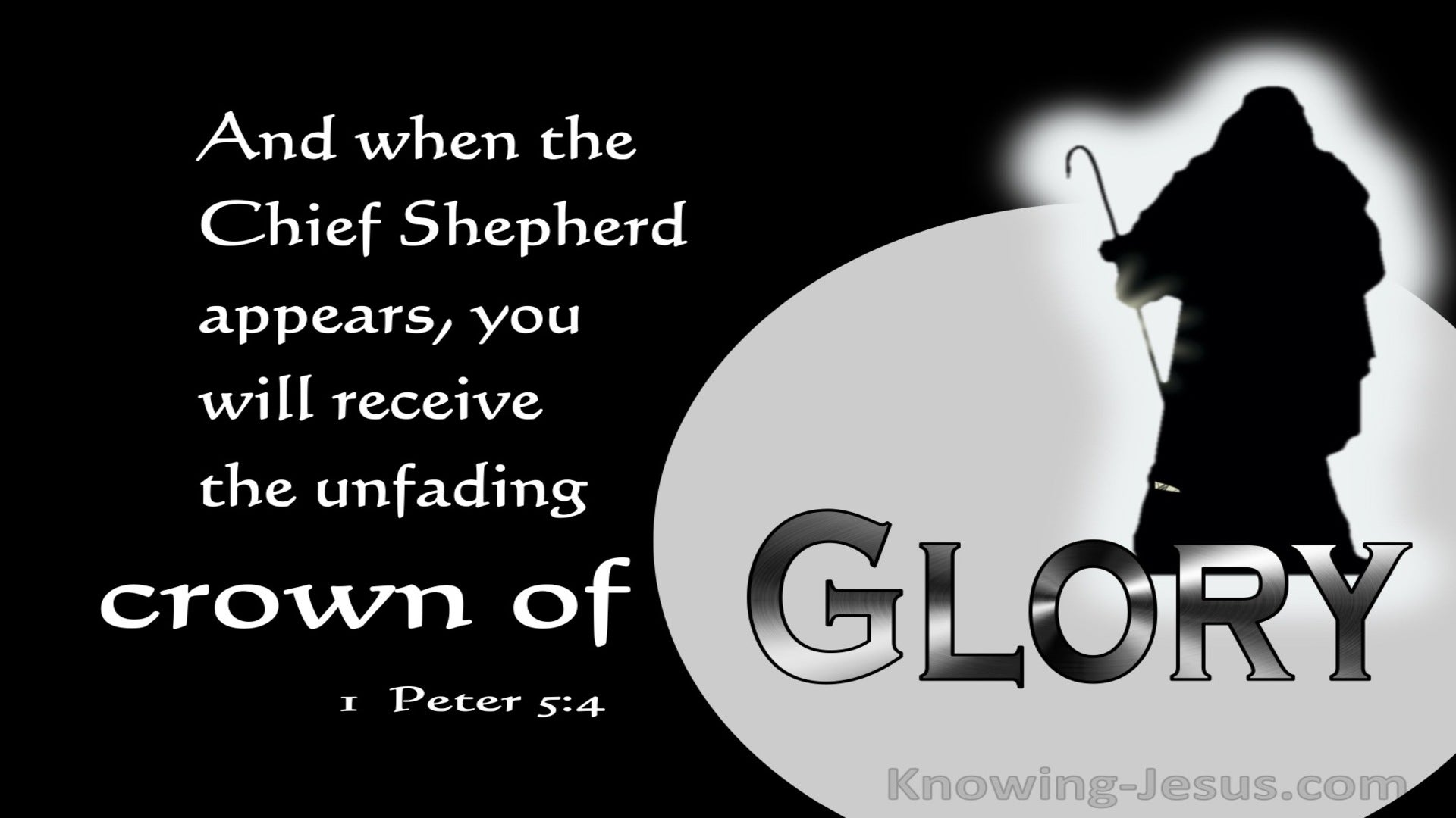 1 Peter 5:4 When The Chief Shepherd Appears (gray)