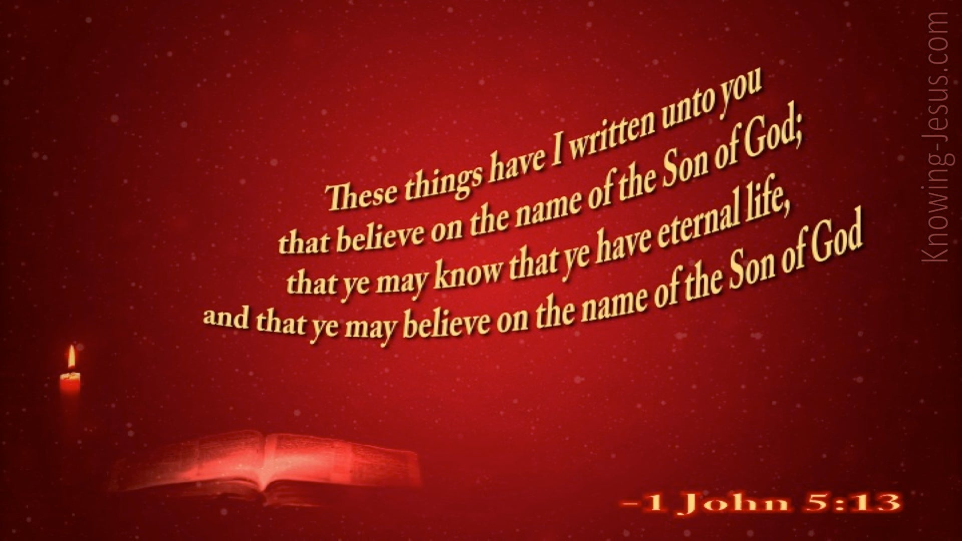 1 John 5:13 This Is Written That You Believe (red)