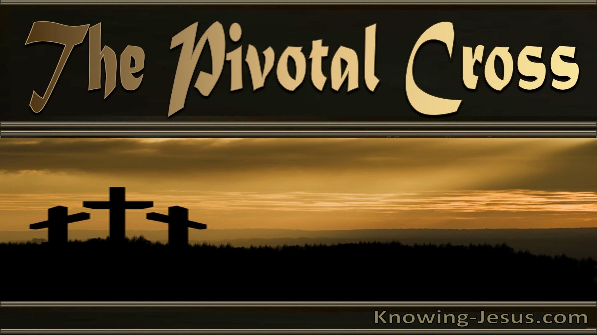The Pivotal Cross (devotional) (black)