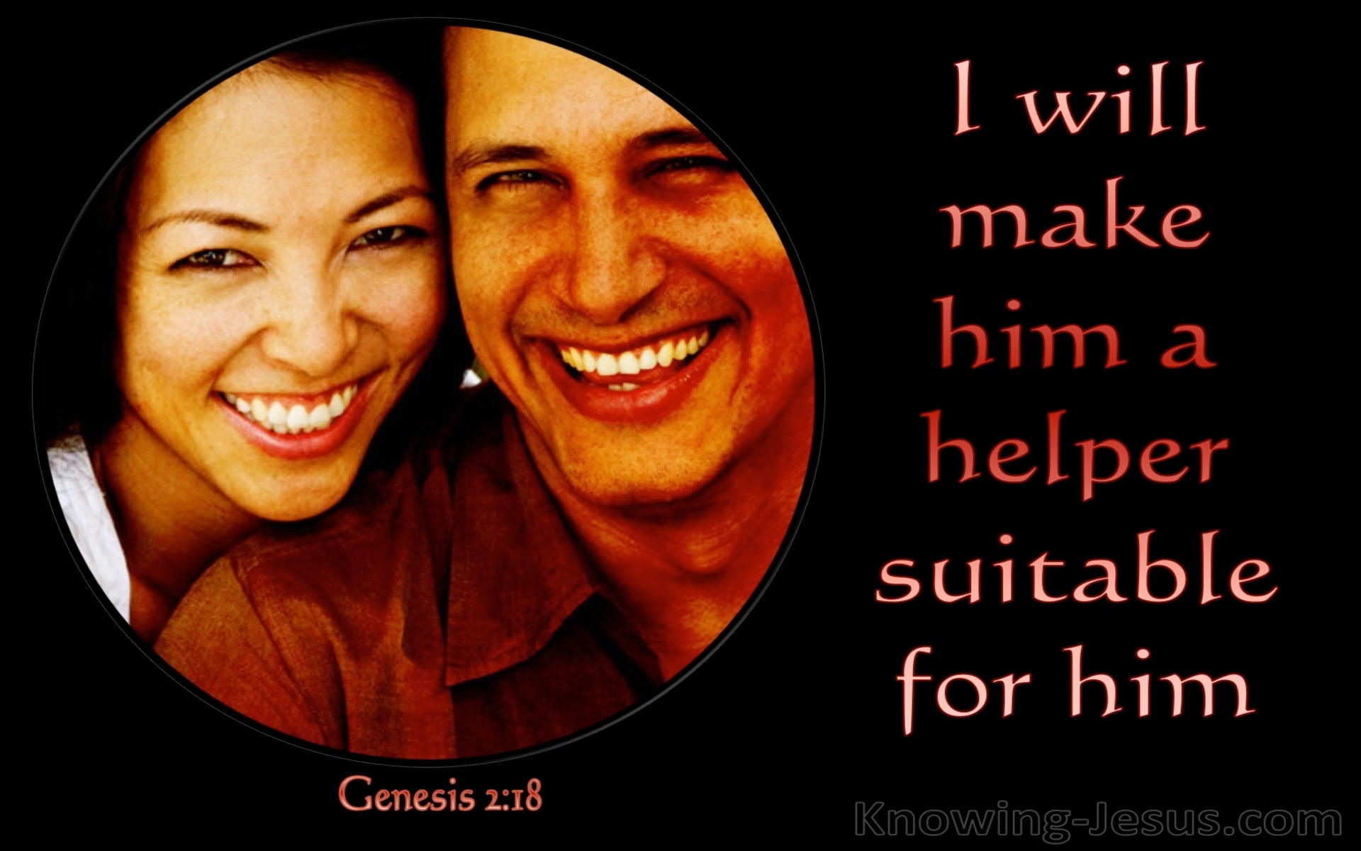 Genesis 2:18 I Will Make Him A Suitable Helper (red)