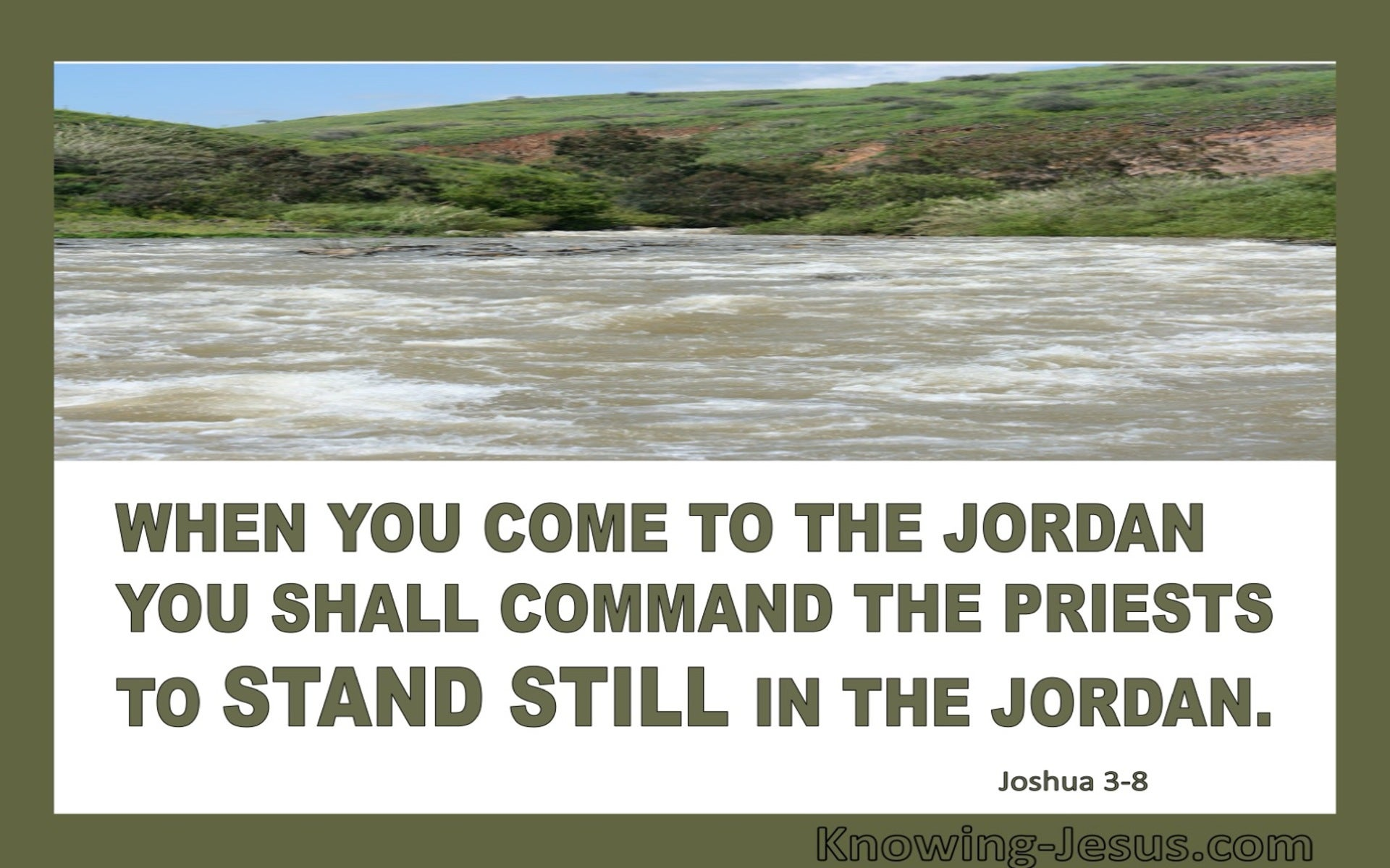 Joshua 3:8 Command The Priests To Shall Stand In The Jordan (sage)