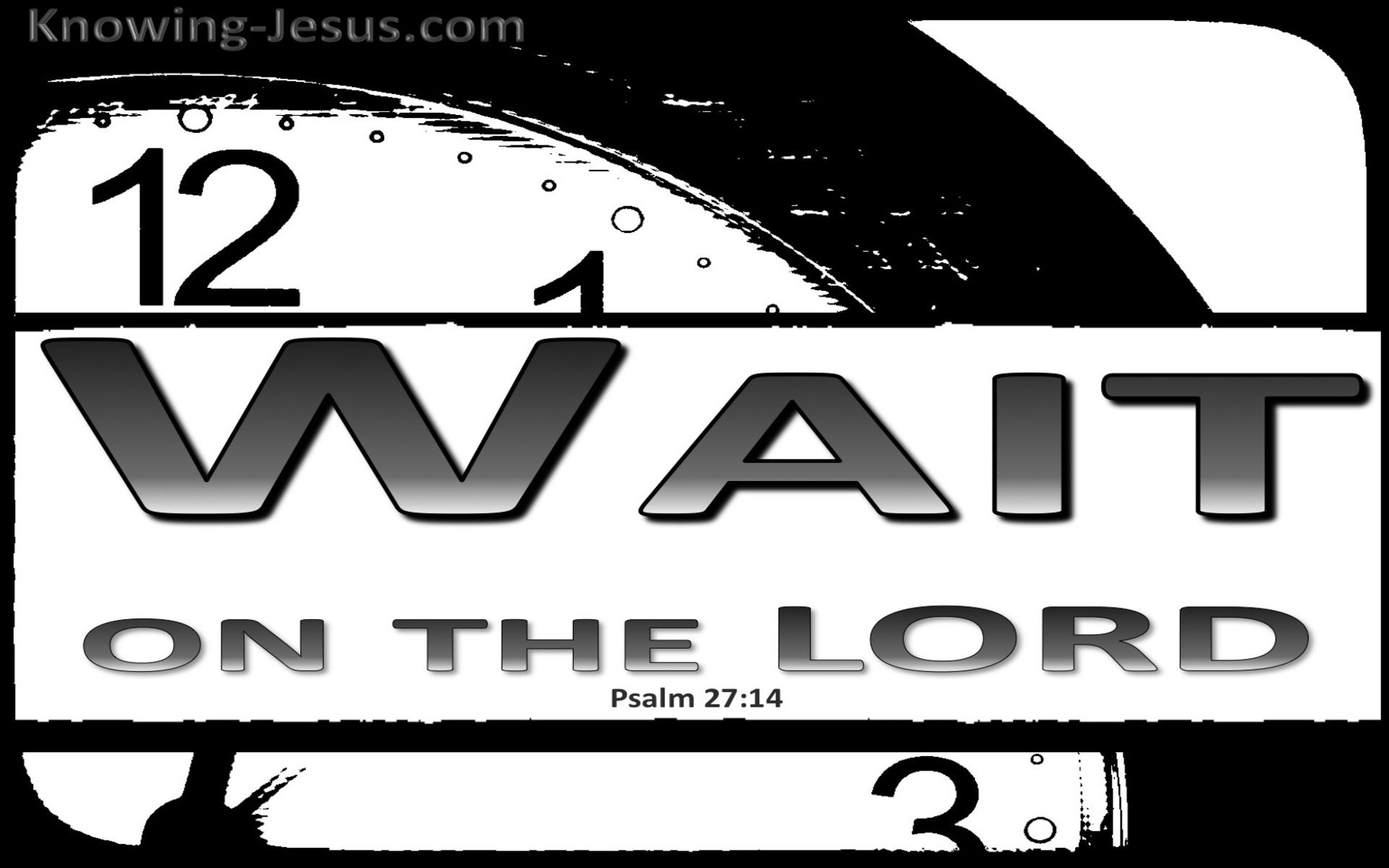 Psalm 27:14 Wait On The Lord (black)