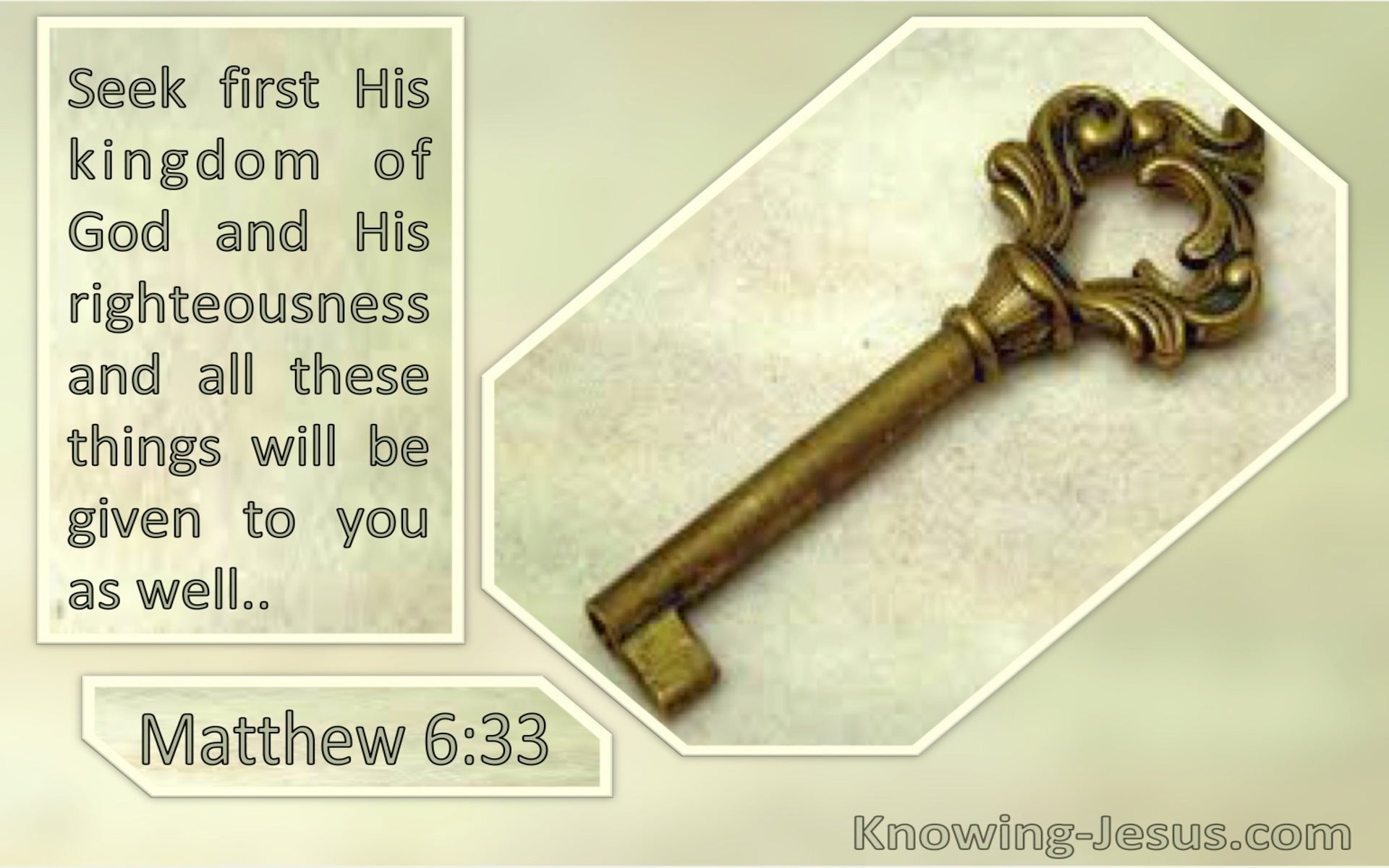 Matthew 6:33 Seek First The Kingdom Of God And His Righteousness (windows)09:26