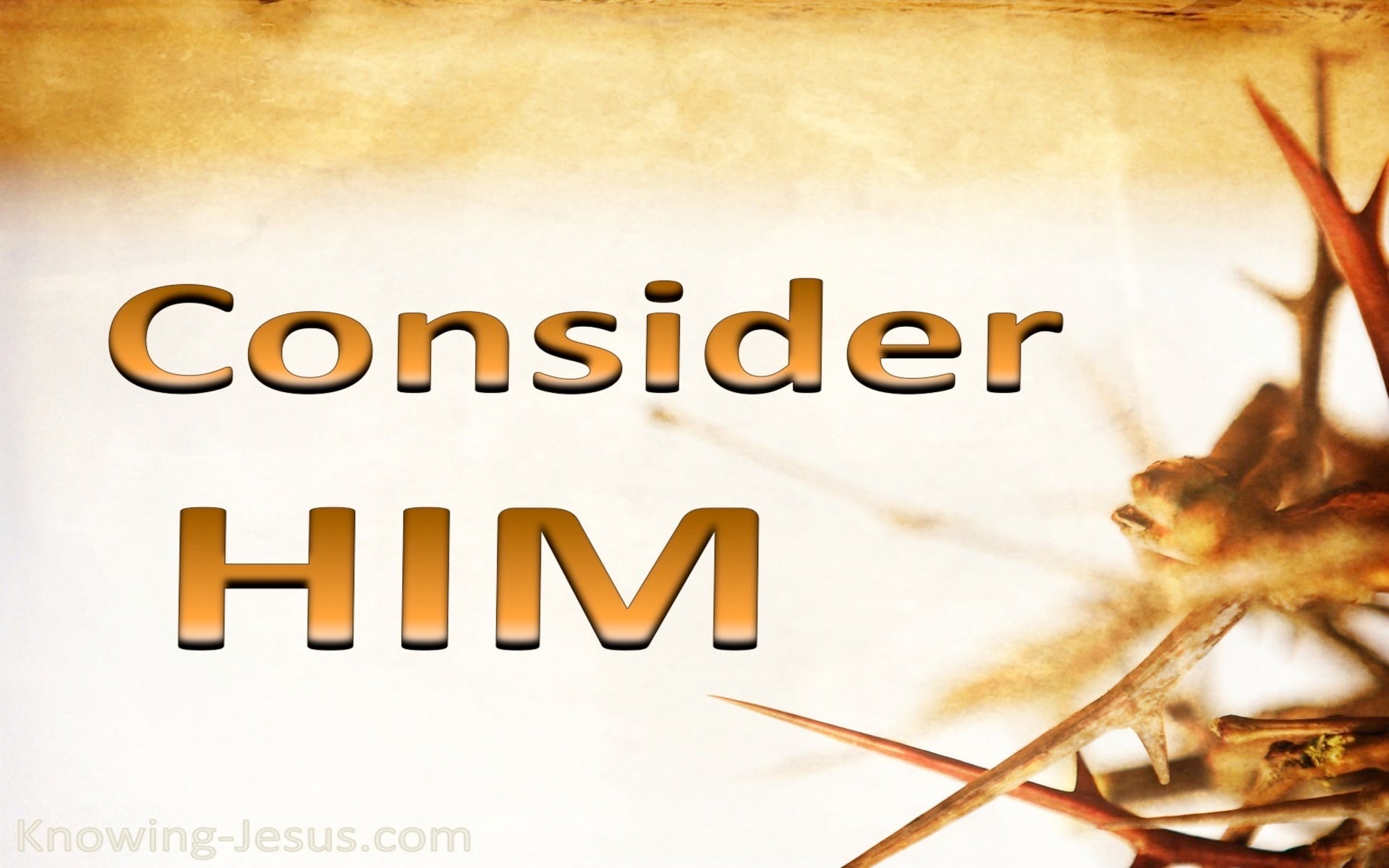 Hebrews 12:3 Consider Him (beige)