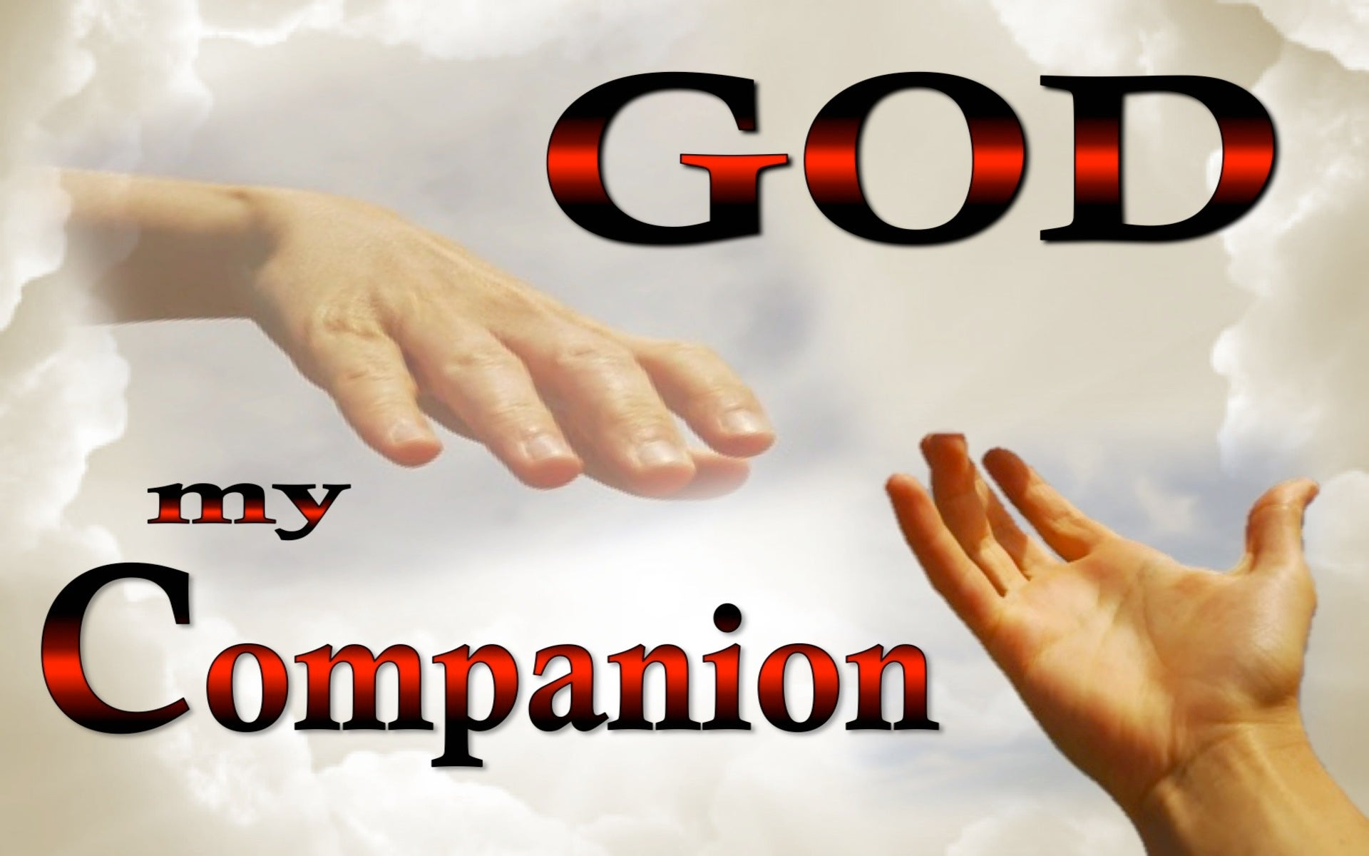 God, My Companion (devotional) (white)