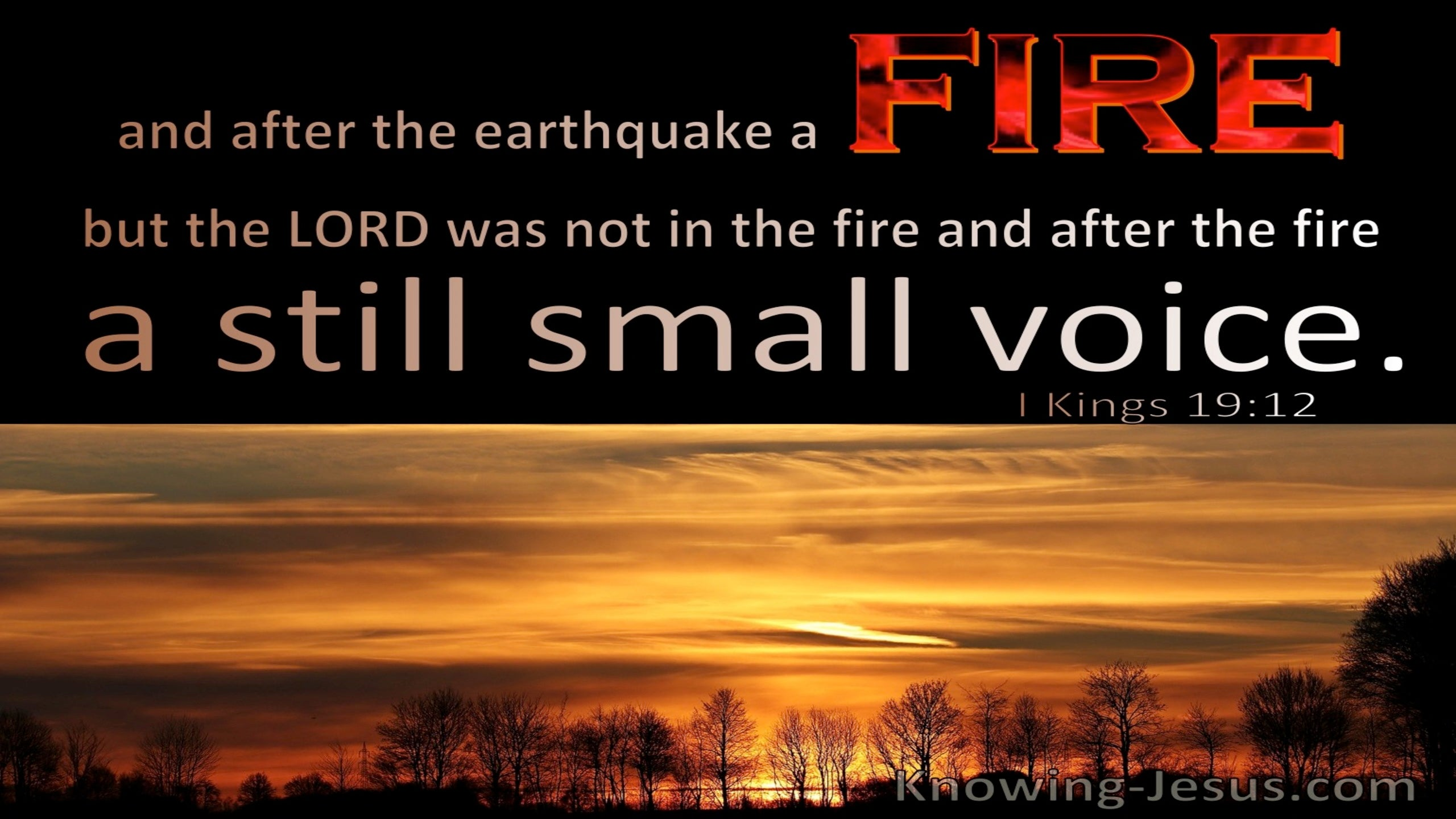 1 Kings 19:12 After The Fire A Still Small Voice (black)