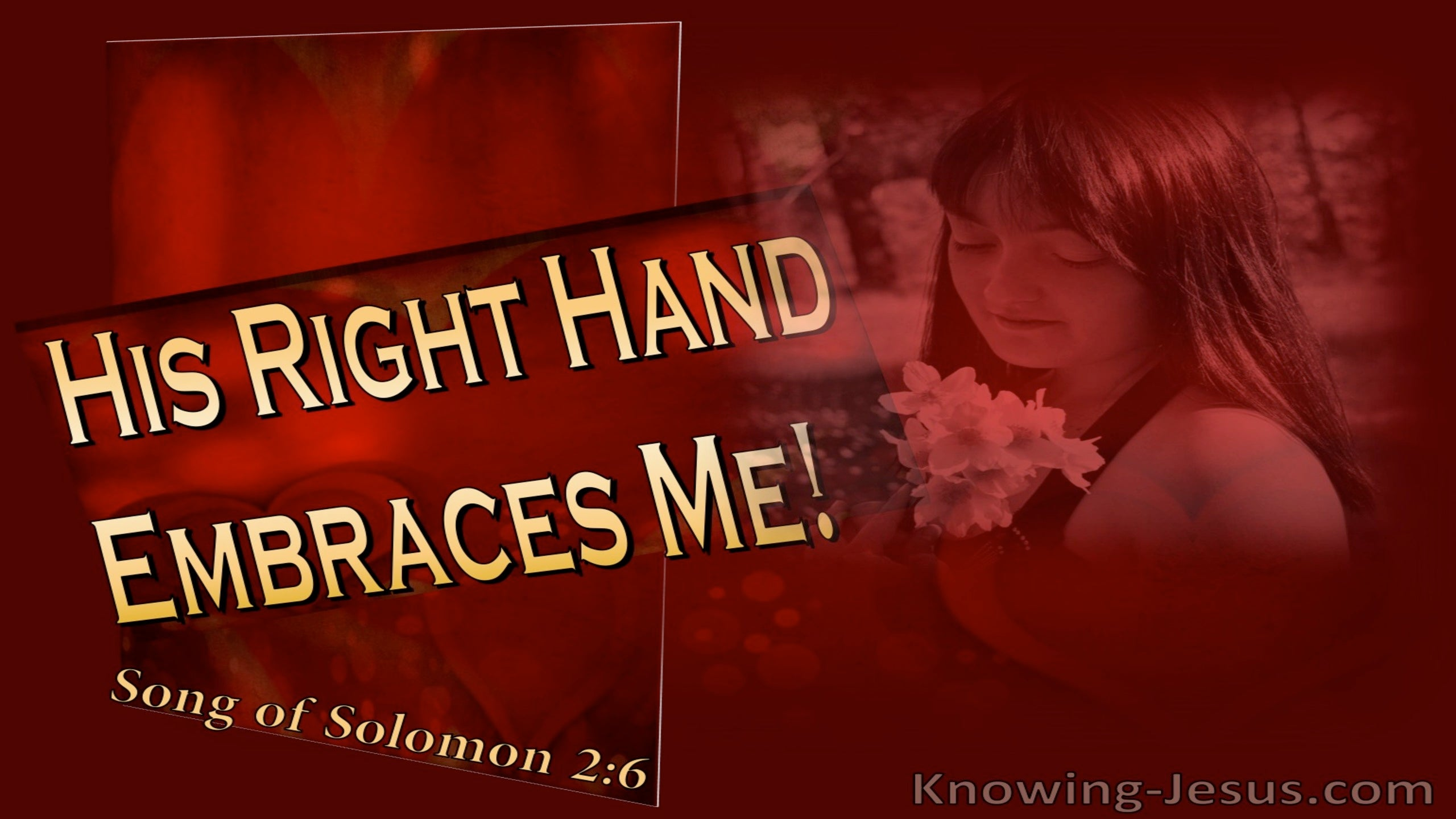 Song of Solomon 2-6 His Right Hand Embraces Me (yellow)