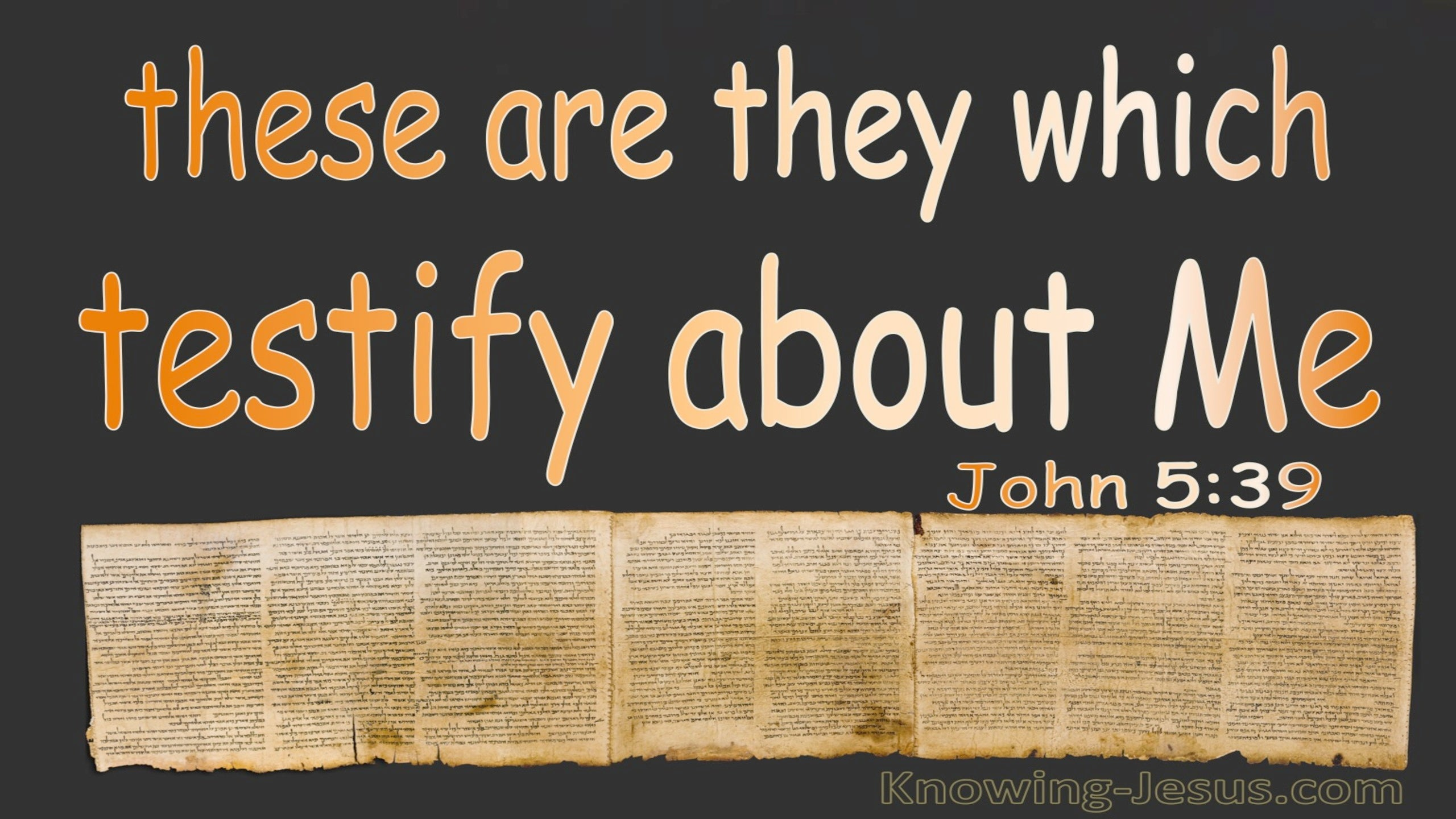 John 5:39 These Testify Of Me (brown)