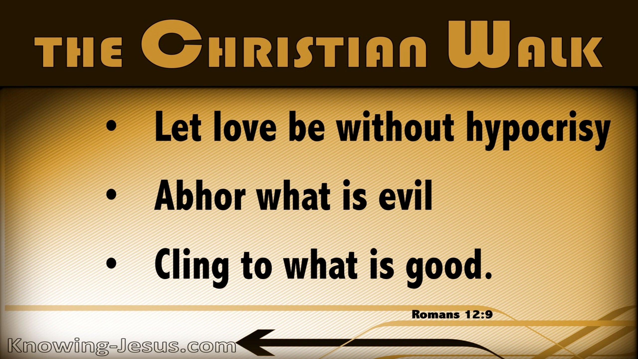 Romans 12:9 Let Love Be Without Hypocrisy (yellow)