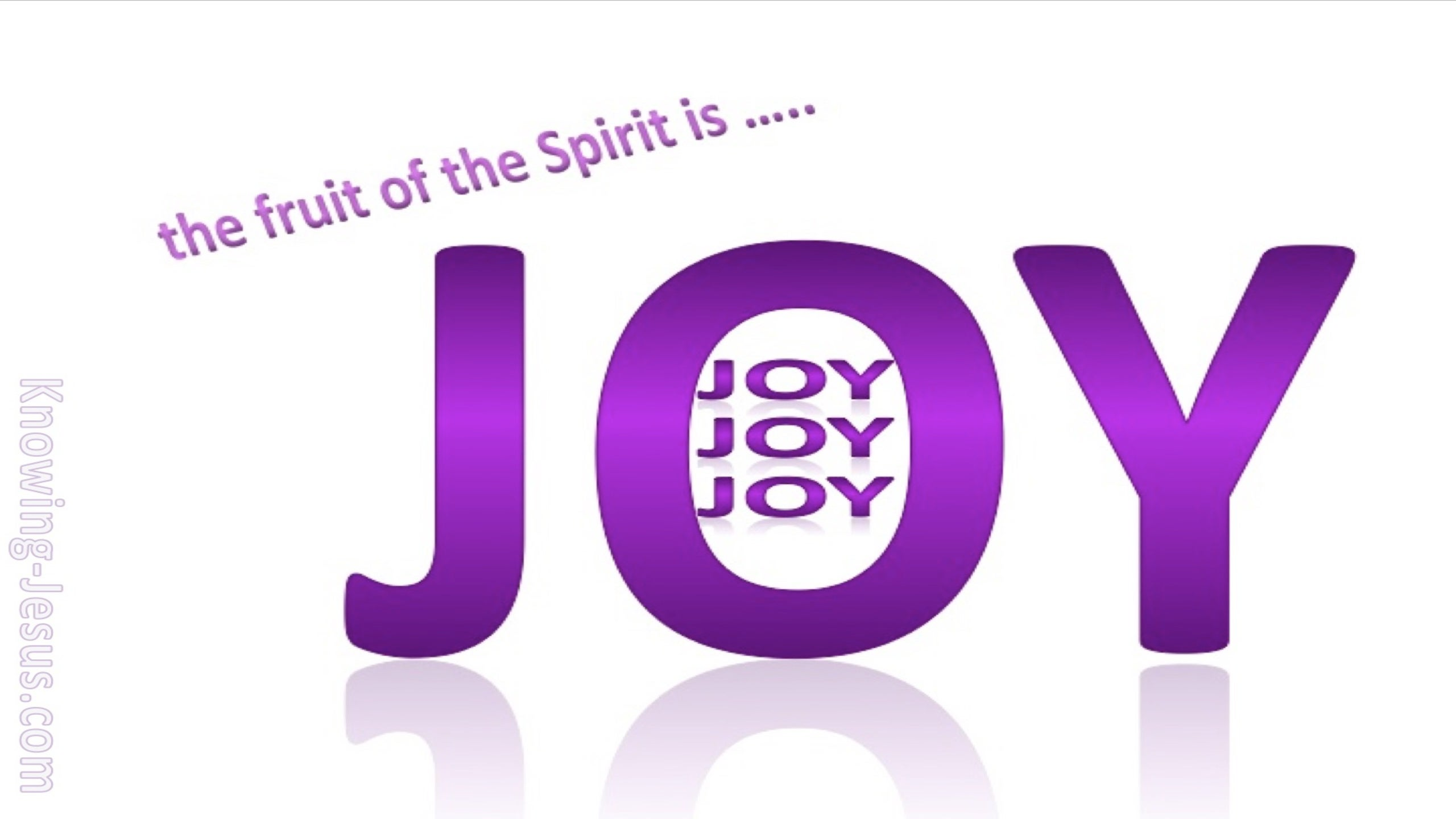 Galatians 5:22 Fruit Of The Spirit Is Joy (purple)
