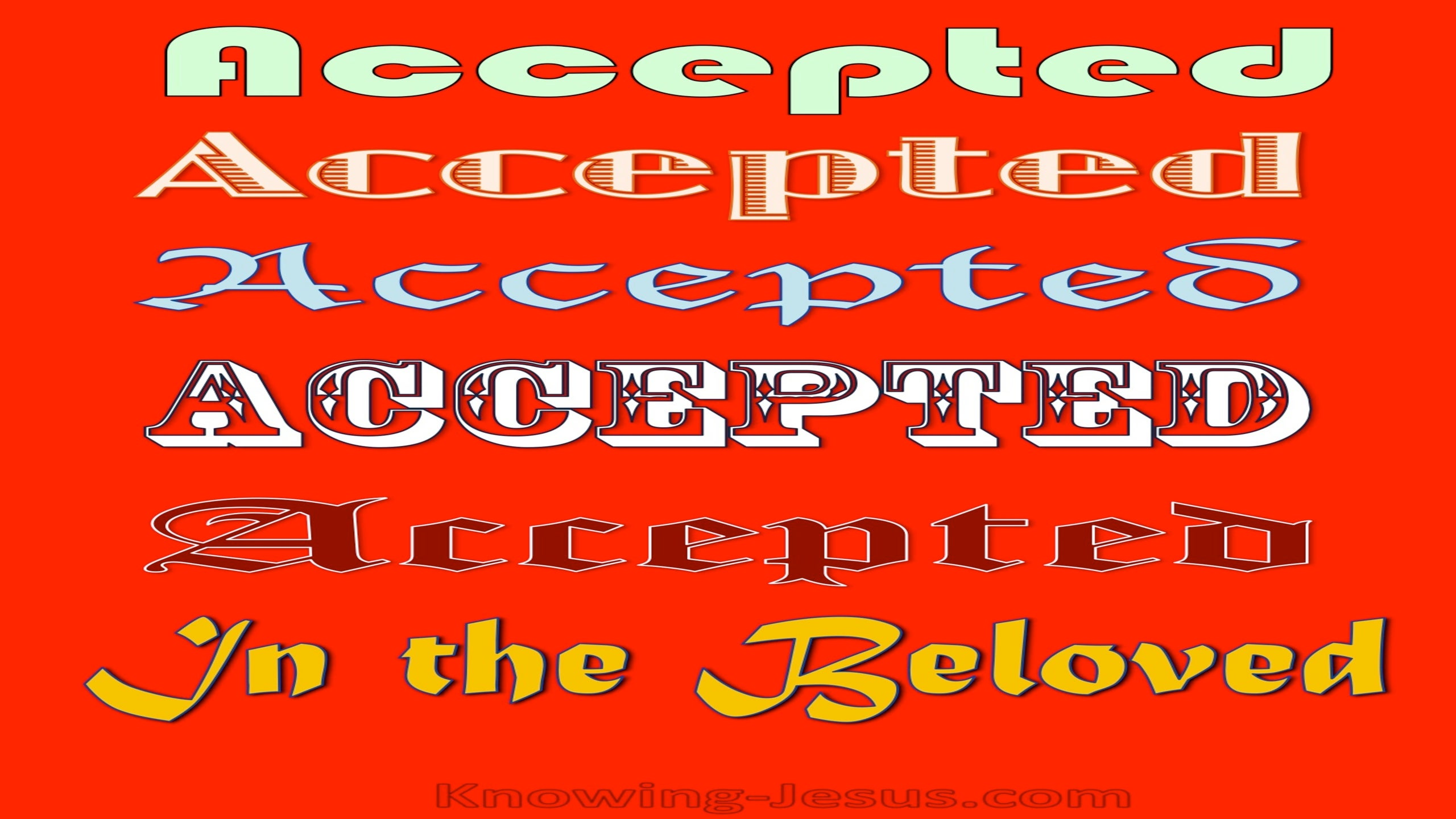 Ephesians 1:6 Accepted in the Beloved (devotional)12-11 (red)