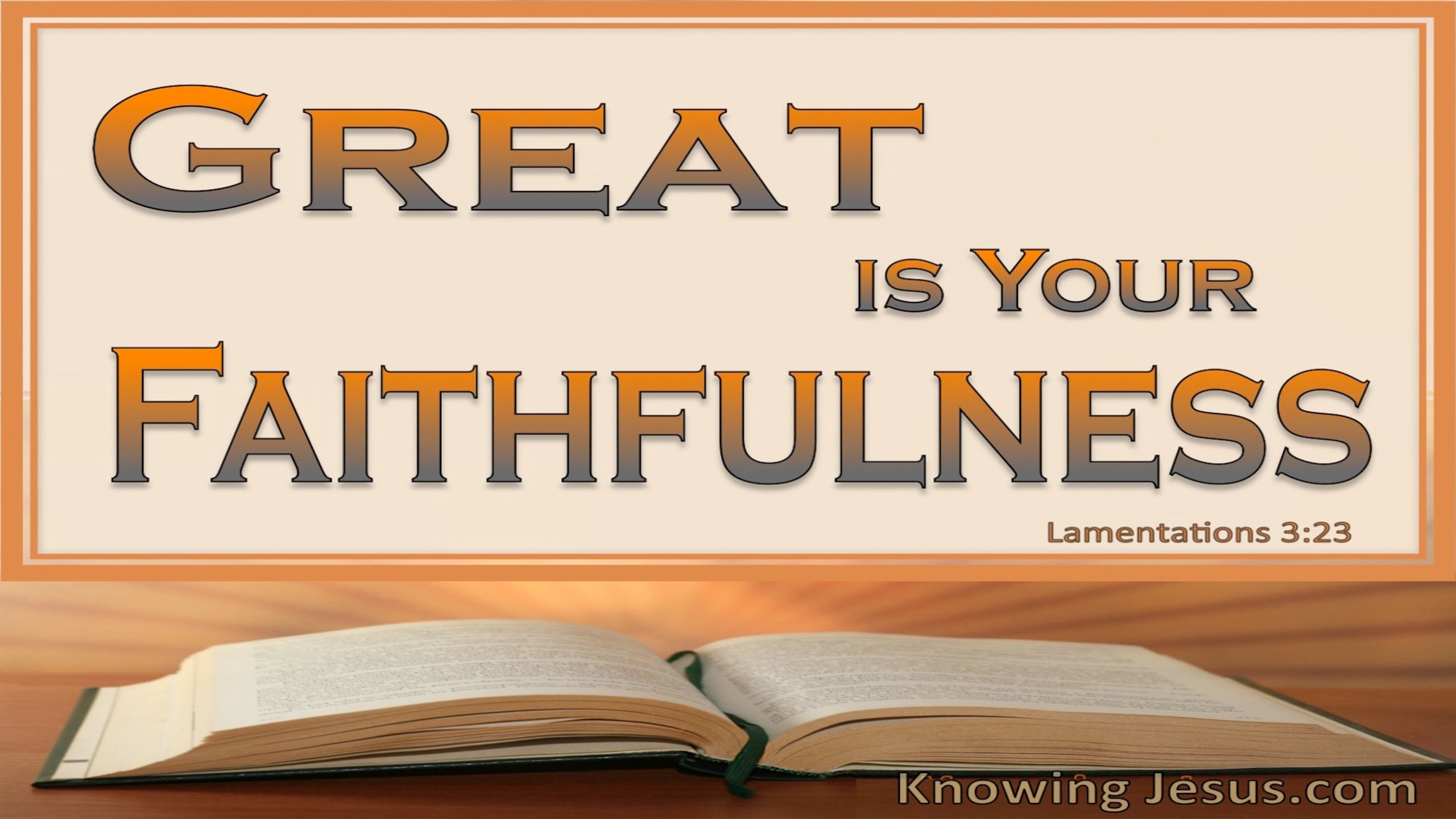 Lord Your Word Abides (devotional) (brown) - Lamentations 3:23