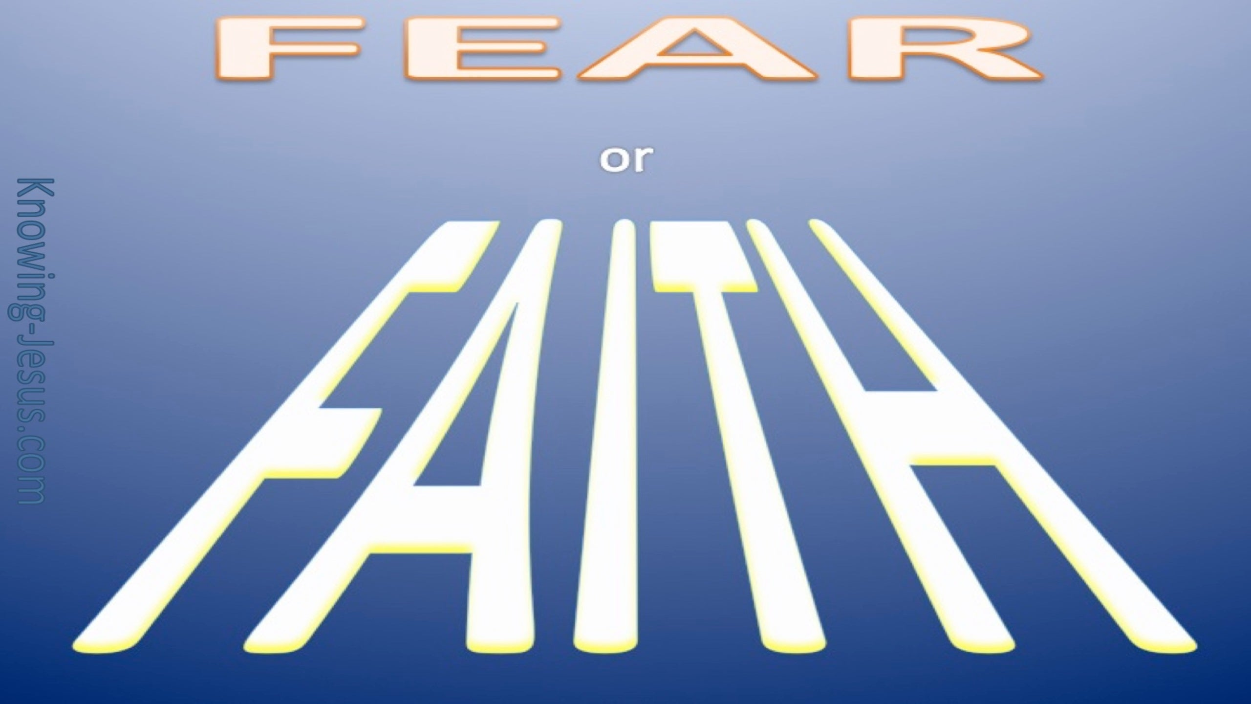 Faith Verses Fear (devotional) (blue)