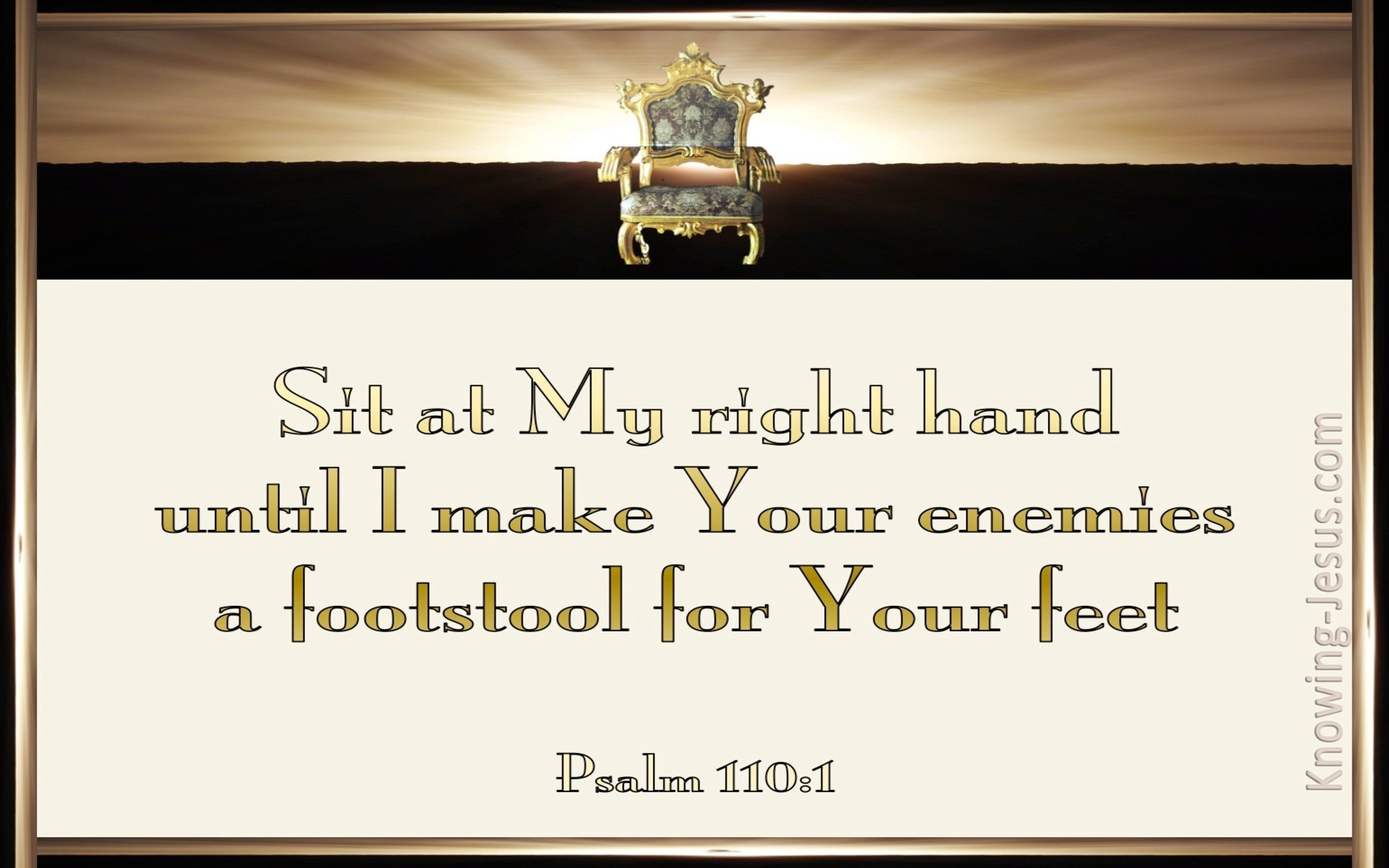Psalm 110:1 Sit At My Right Hand (gold)