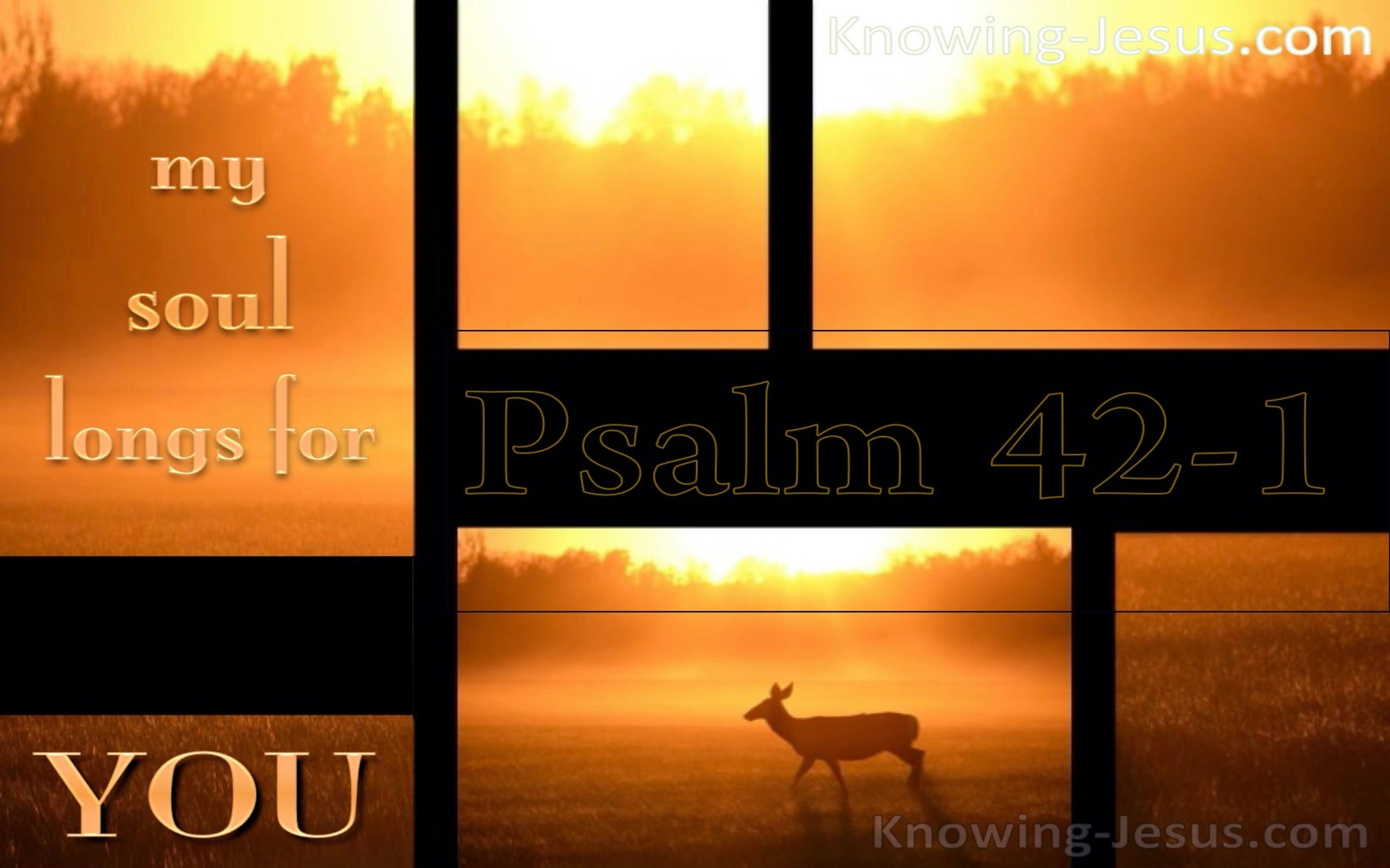 Psalm 42:1 As The Deer Pants For Water (black)