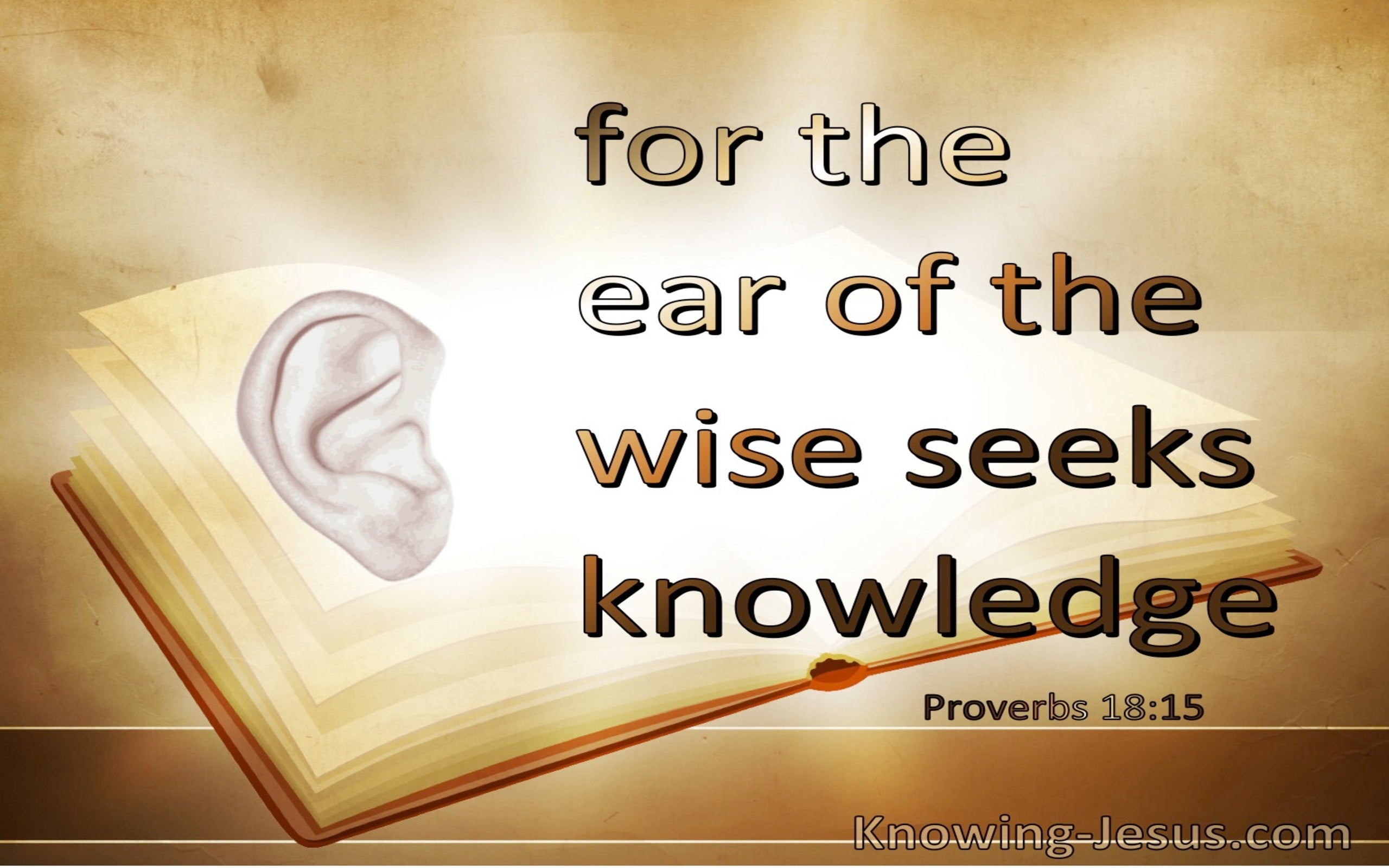 Proverbs 18:15 The Ear Of The Wise Seek Knowledge Acquires Knowledge