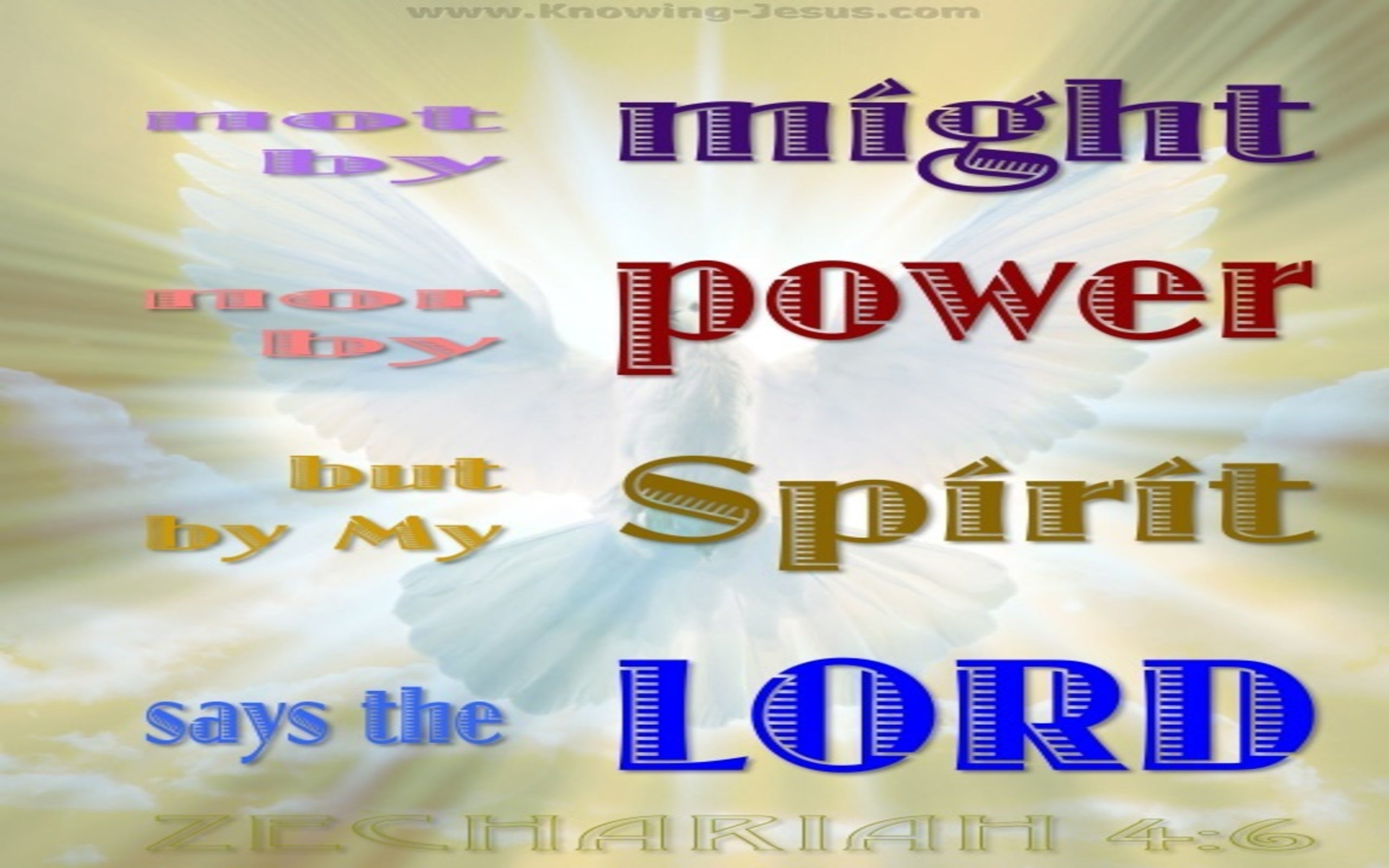Zechariah 4:6  By My Spirit Says The Lord (gold)