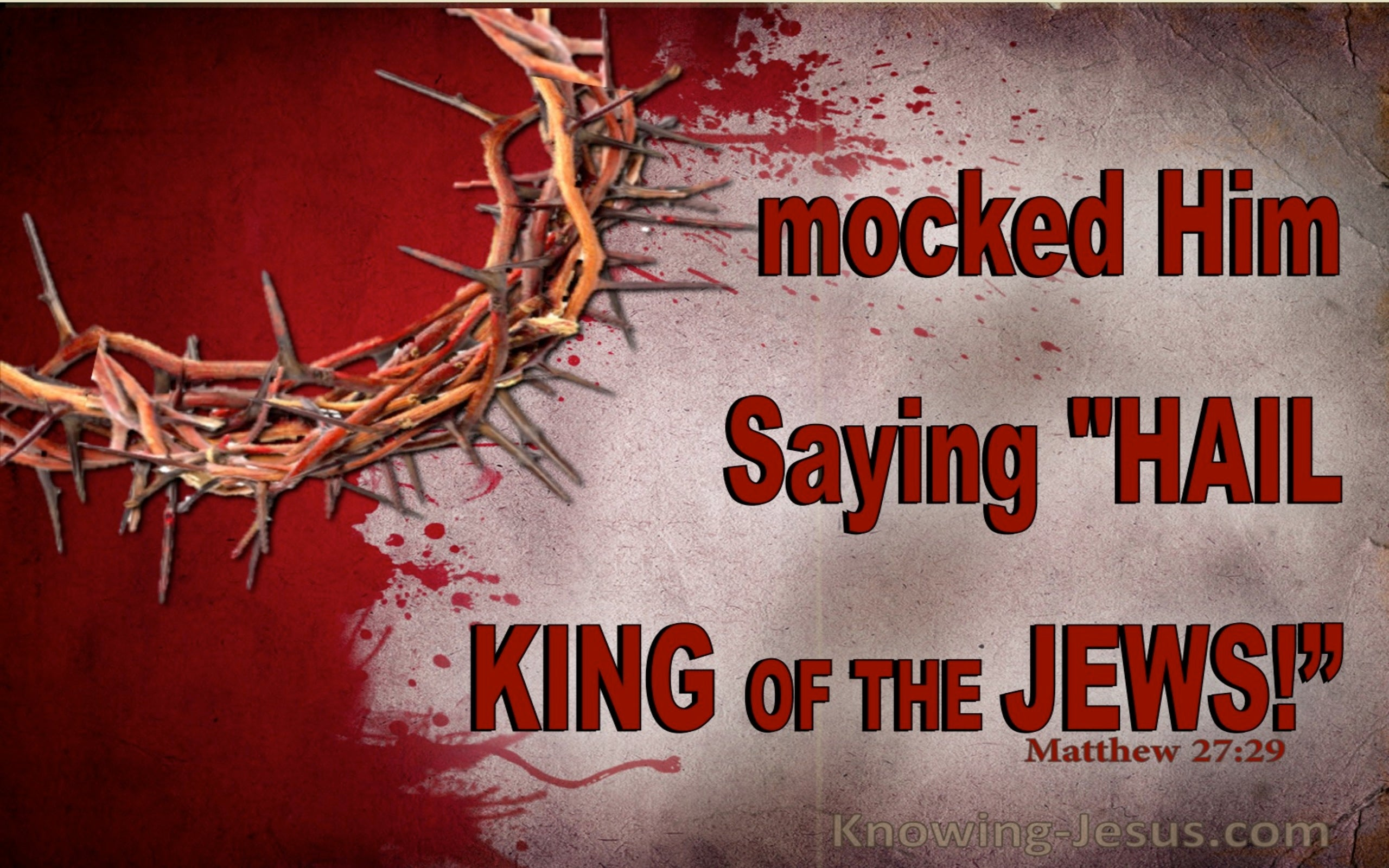 Matthew 27:29 They Twisted Together A Crown Of Thorns (red)