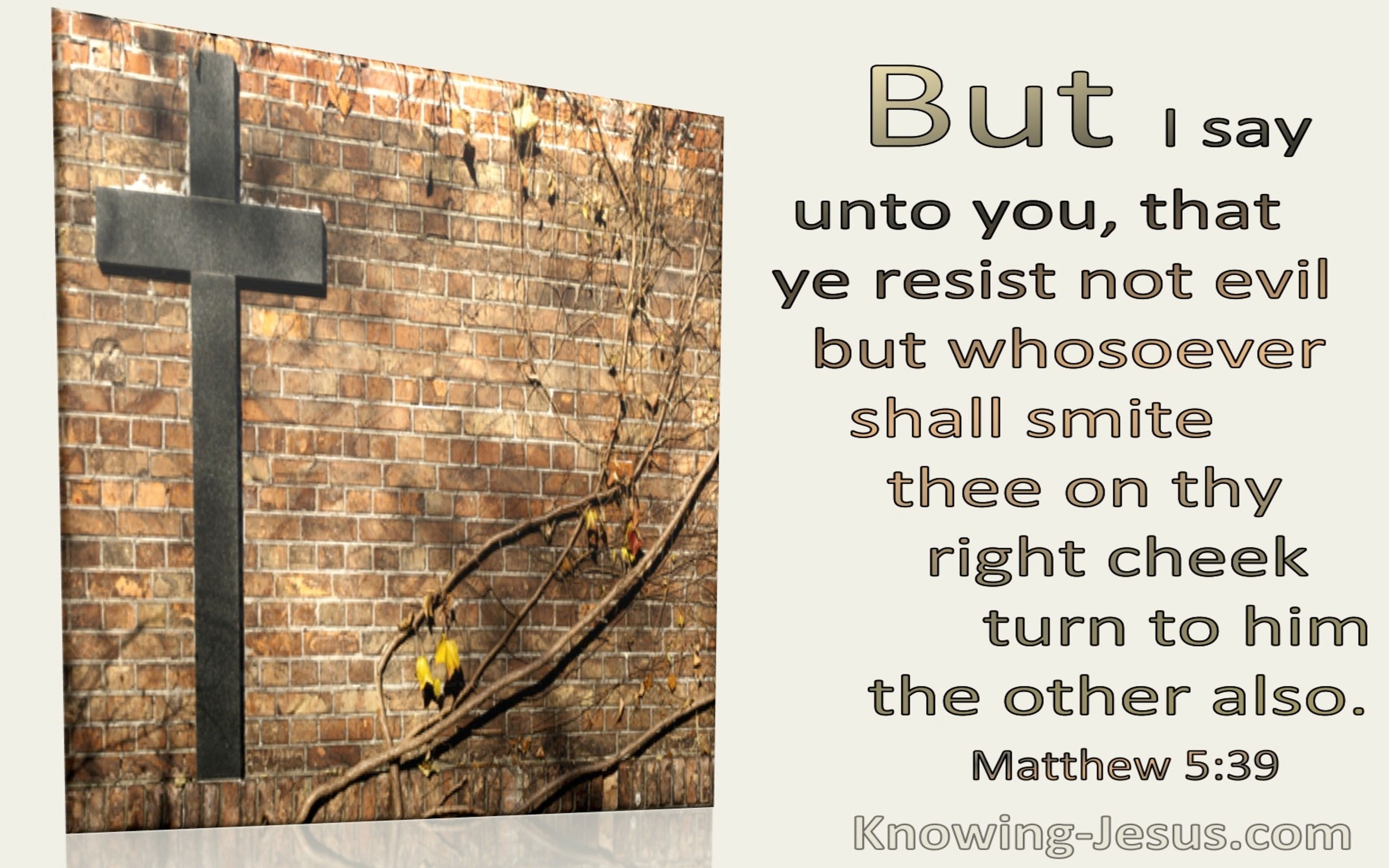 Matthew 5:39 Whosoever Smite Thee On The Right Cheek Turn To Him The Other Also (utmost)07:14