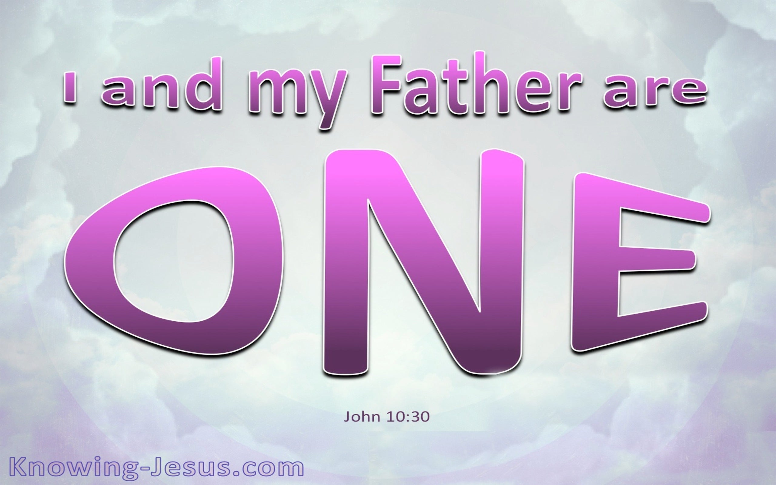 John 10:30 I And The Father Are One (pink)