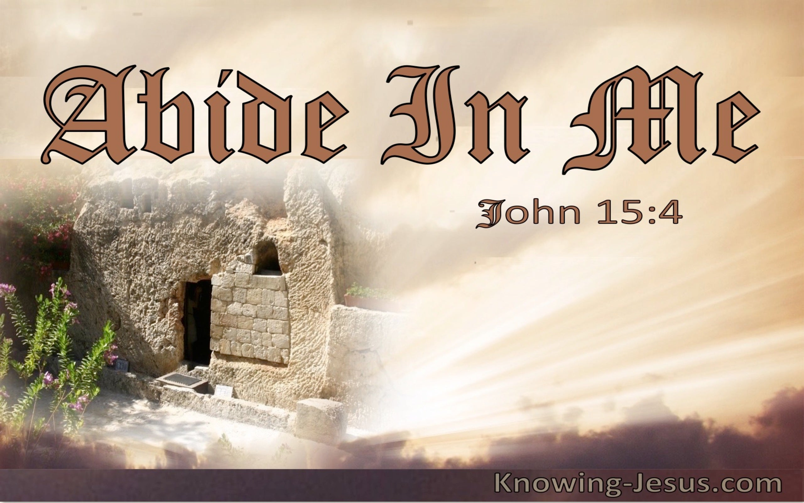 John 15:4 Abiding in Christ (beige)