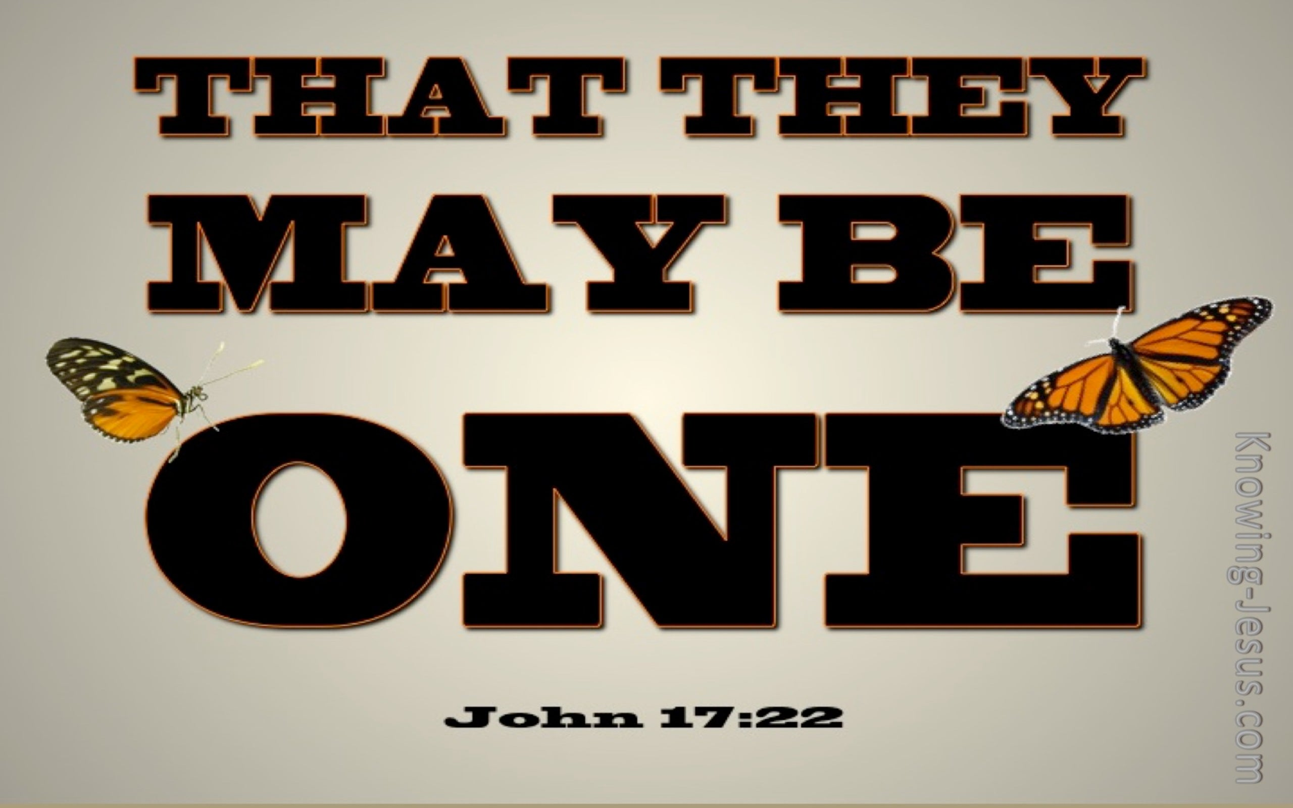 John 17:22 That They May Be One (beige)