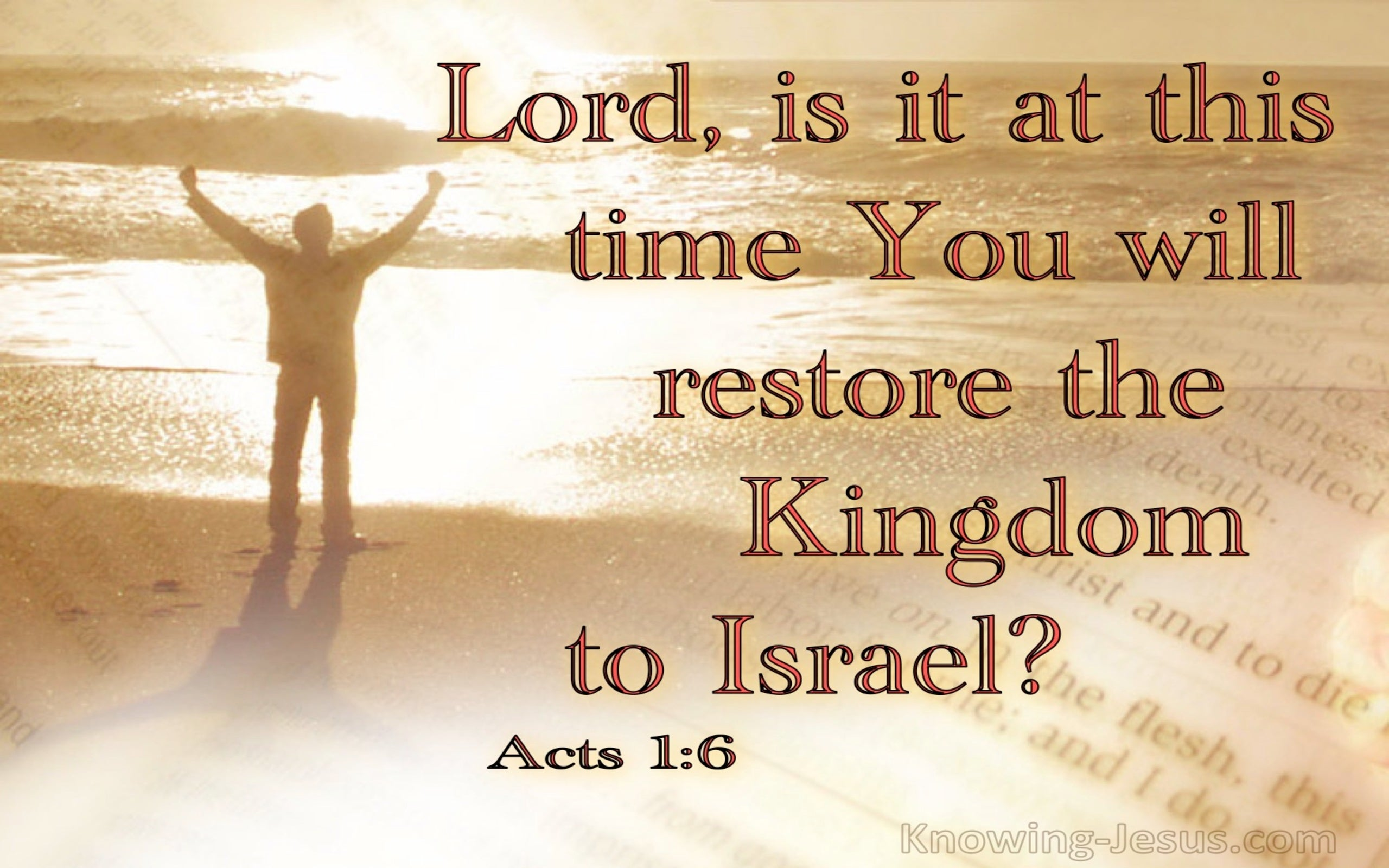 Acts 1:6 Is This The Time To Restore Israel's Kingdom (beige)