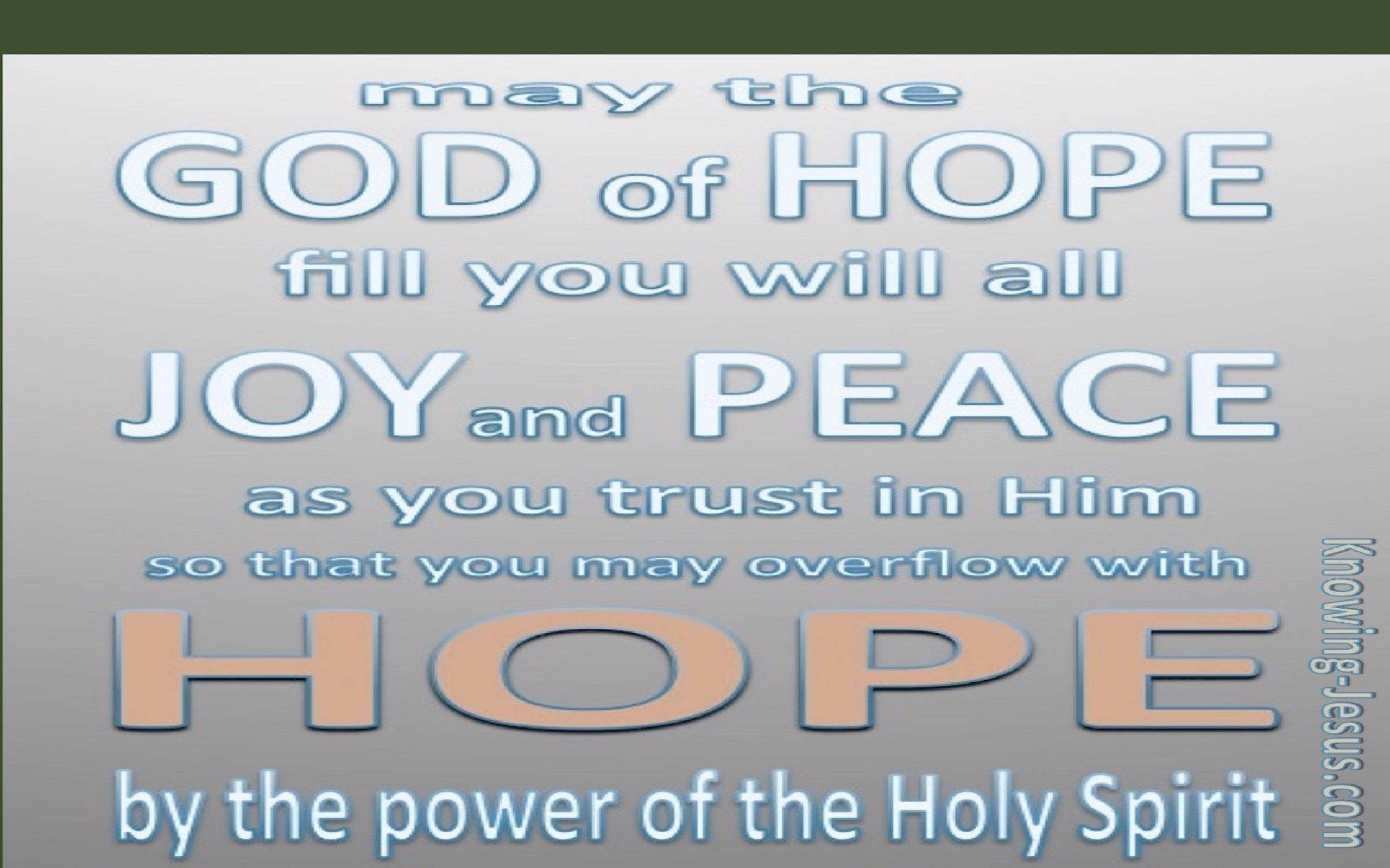 Romans 15:13 God Of Hope (pink)