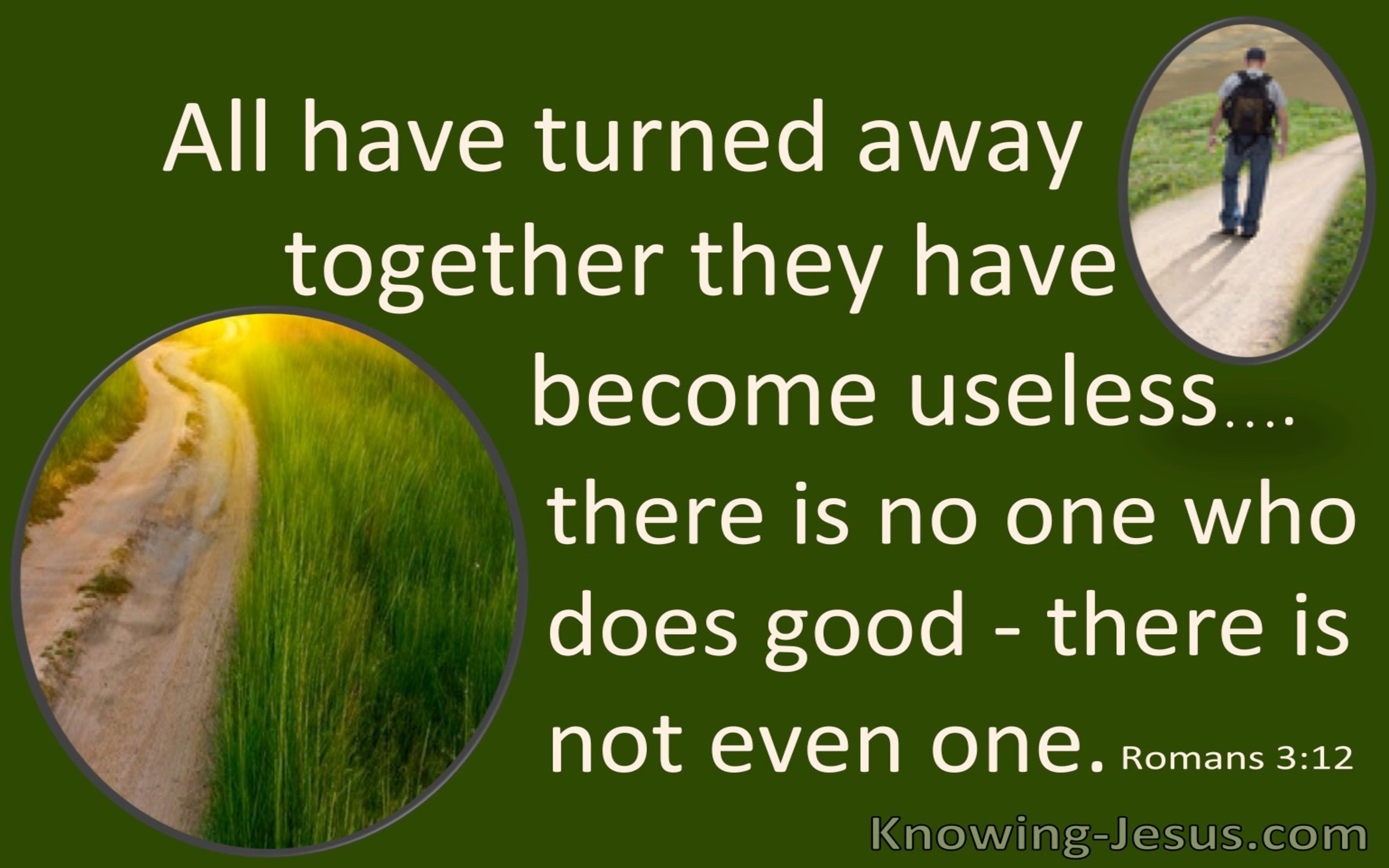 Romans 3:12 All Have Turned Aside (green)