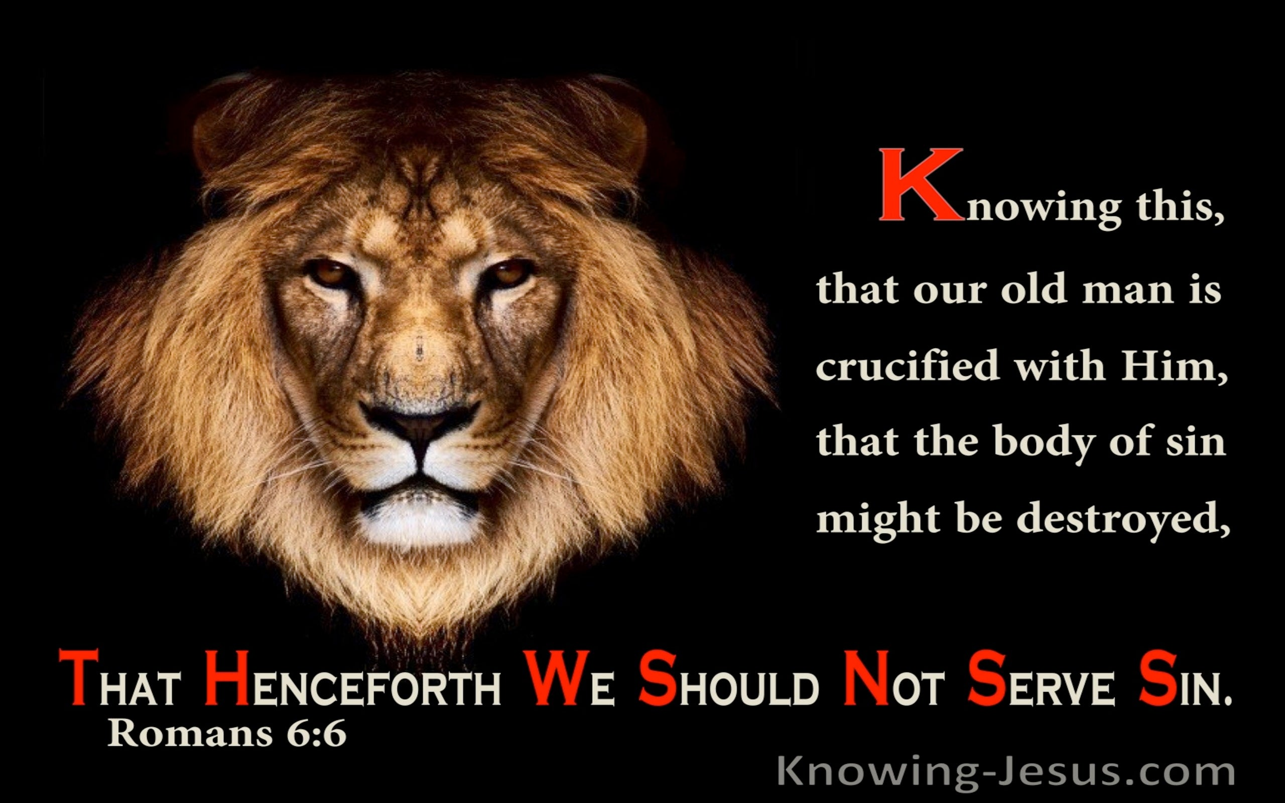 Romans 6:6 Knowing This Our Old Man Is Crucified With Him (utmost)04:10