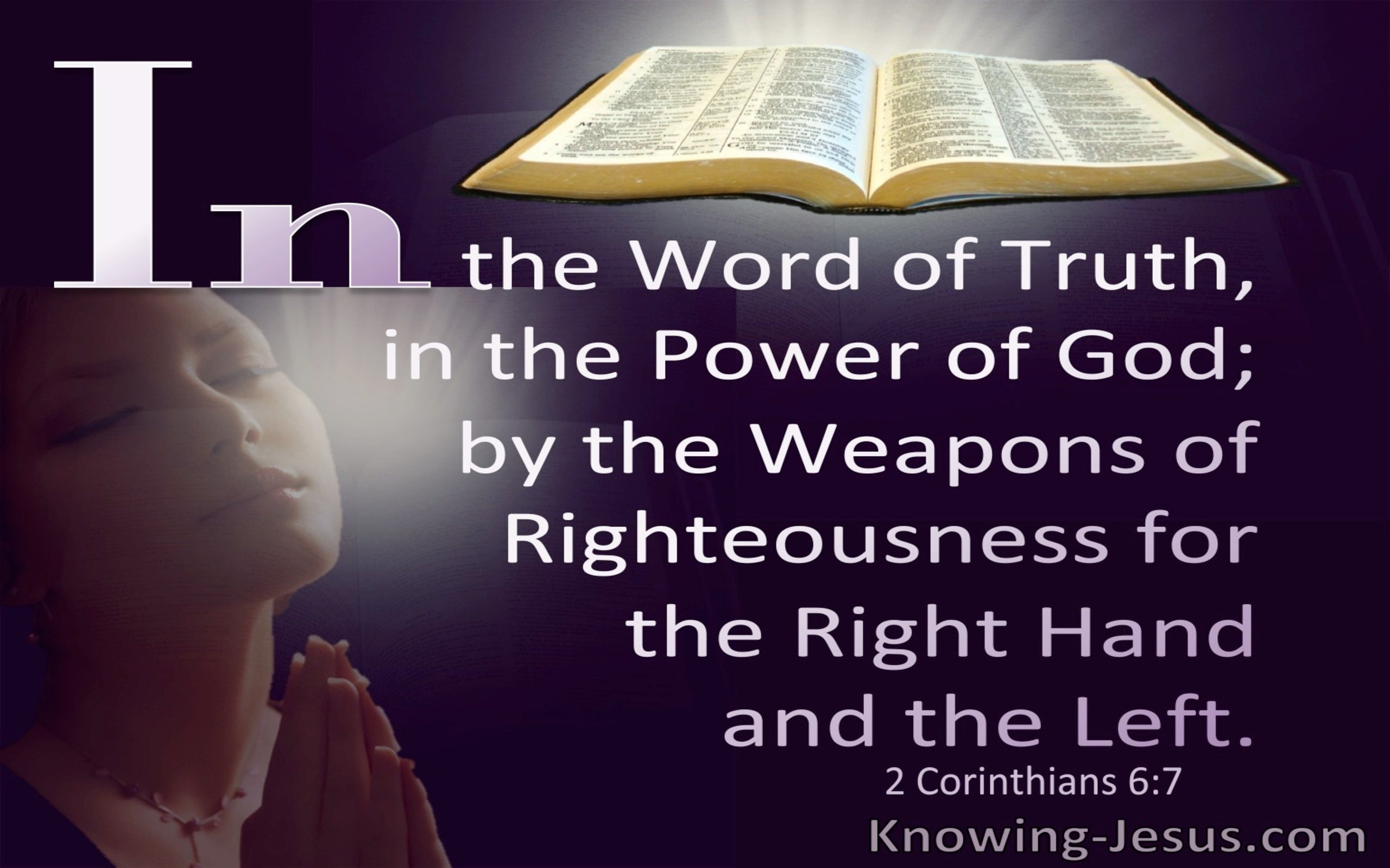 2 Corinthians 6:7 In the Word Of Truth And Power Of God (purple)
