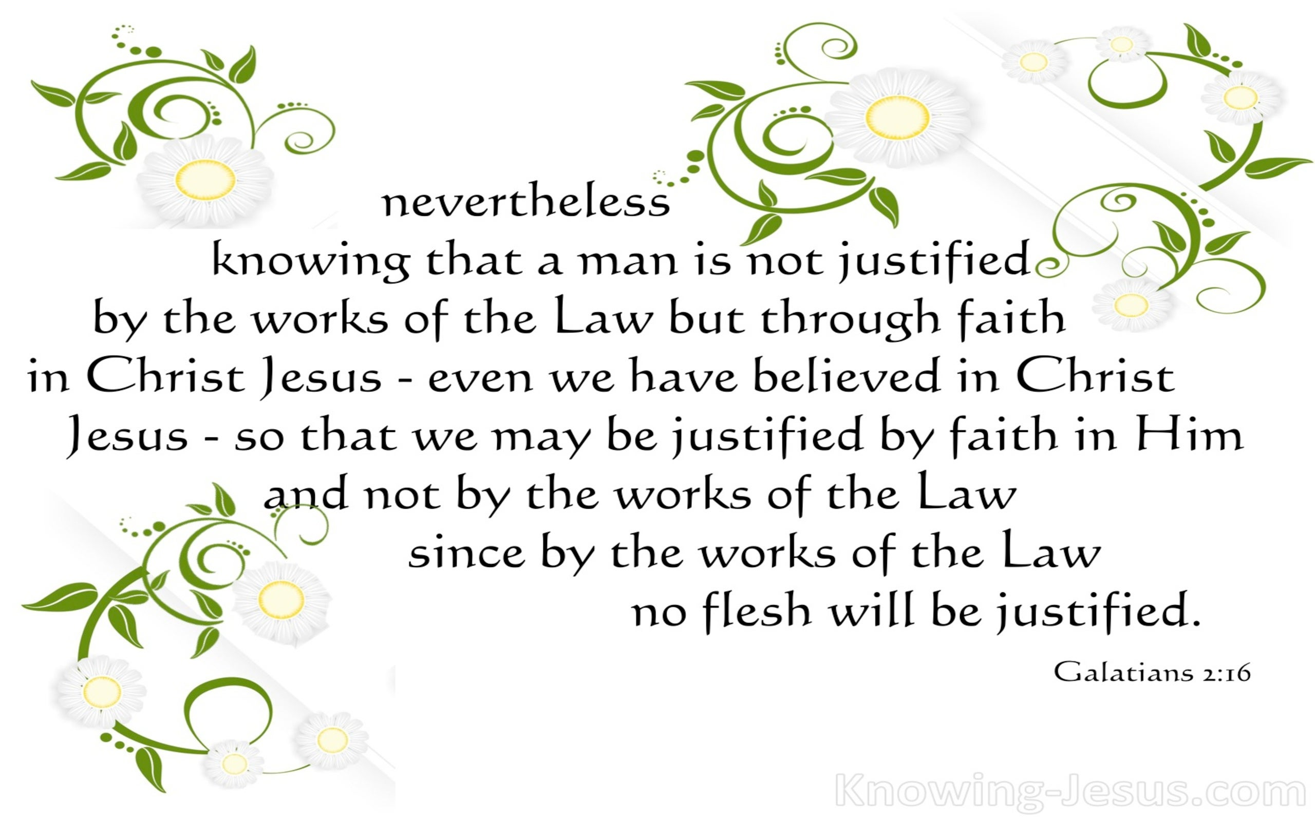 Galatians 2:16 Justified By Faith (black)