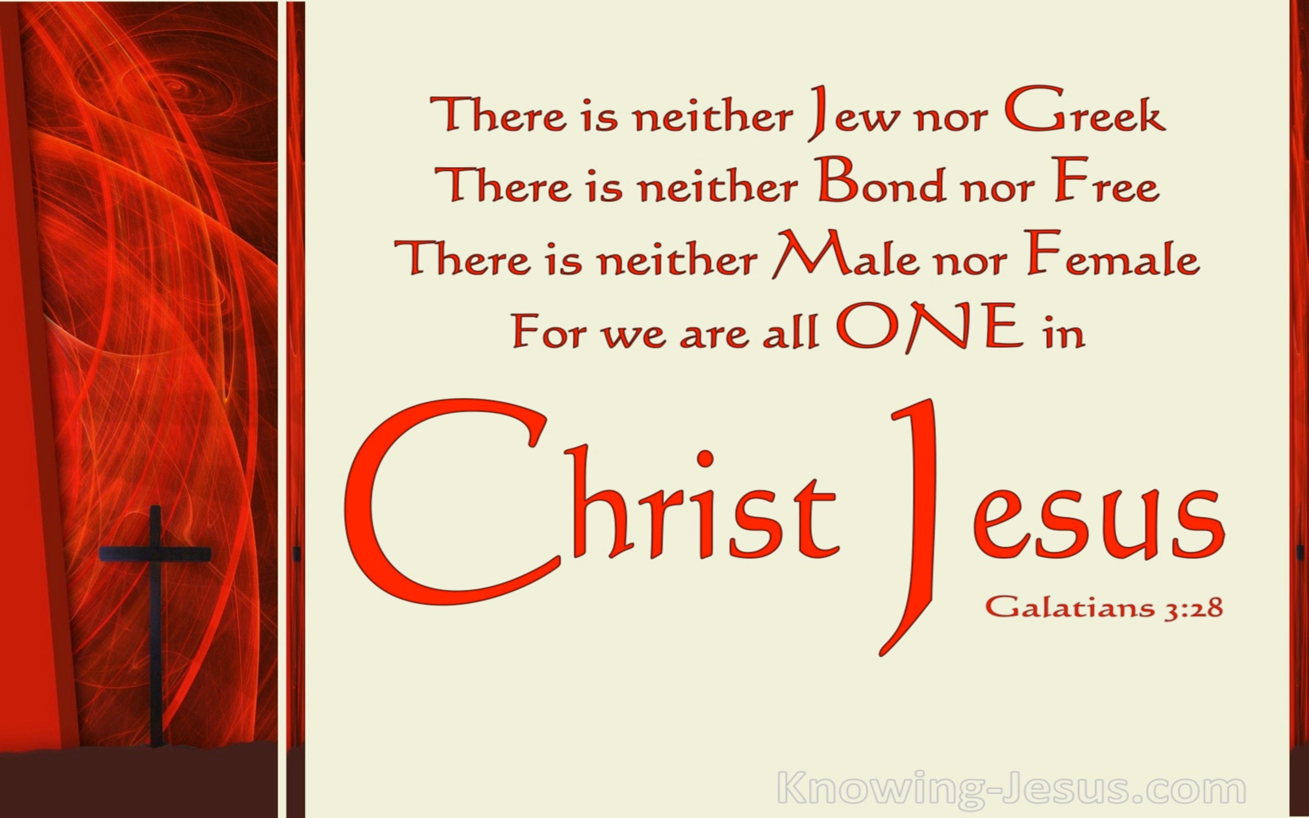 Galatians 3:28 All One In Christ Jesus (beige)