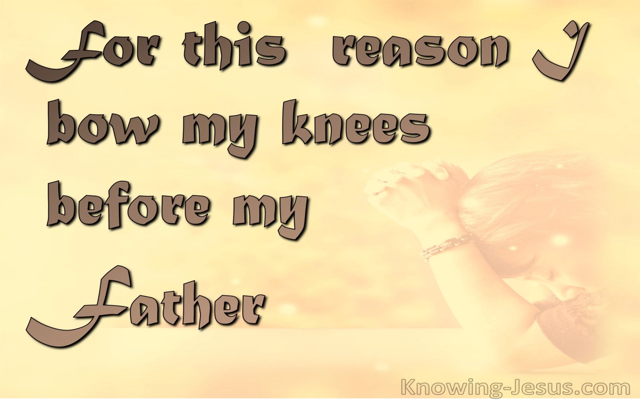 Ephesians 3:14 Bow The Knee Before The Father (orange)