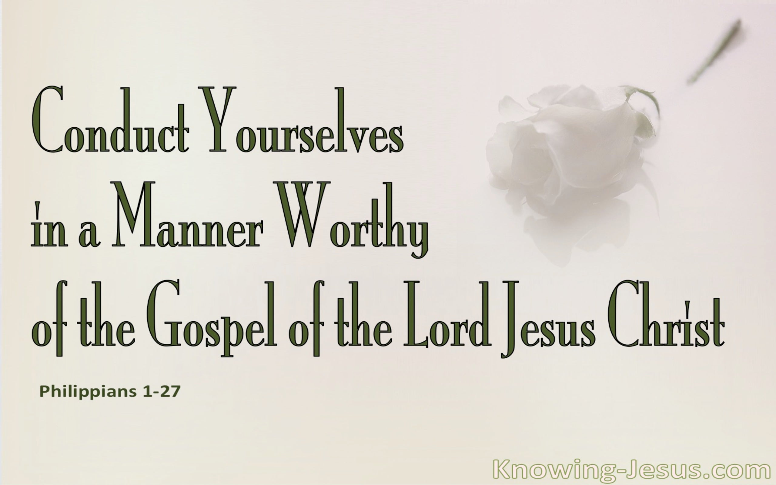 Philippians 1:27  Conduct Yourselves In A Worthy Manner (pink)