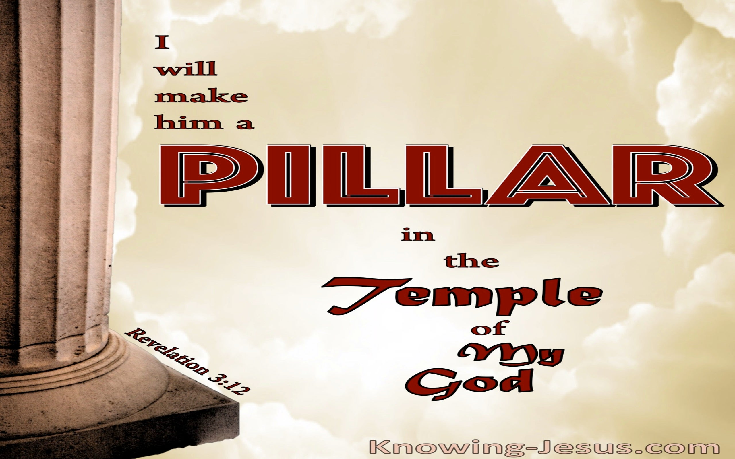 Revelation 3:12 A Pillar In The Temple Of God (red)