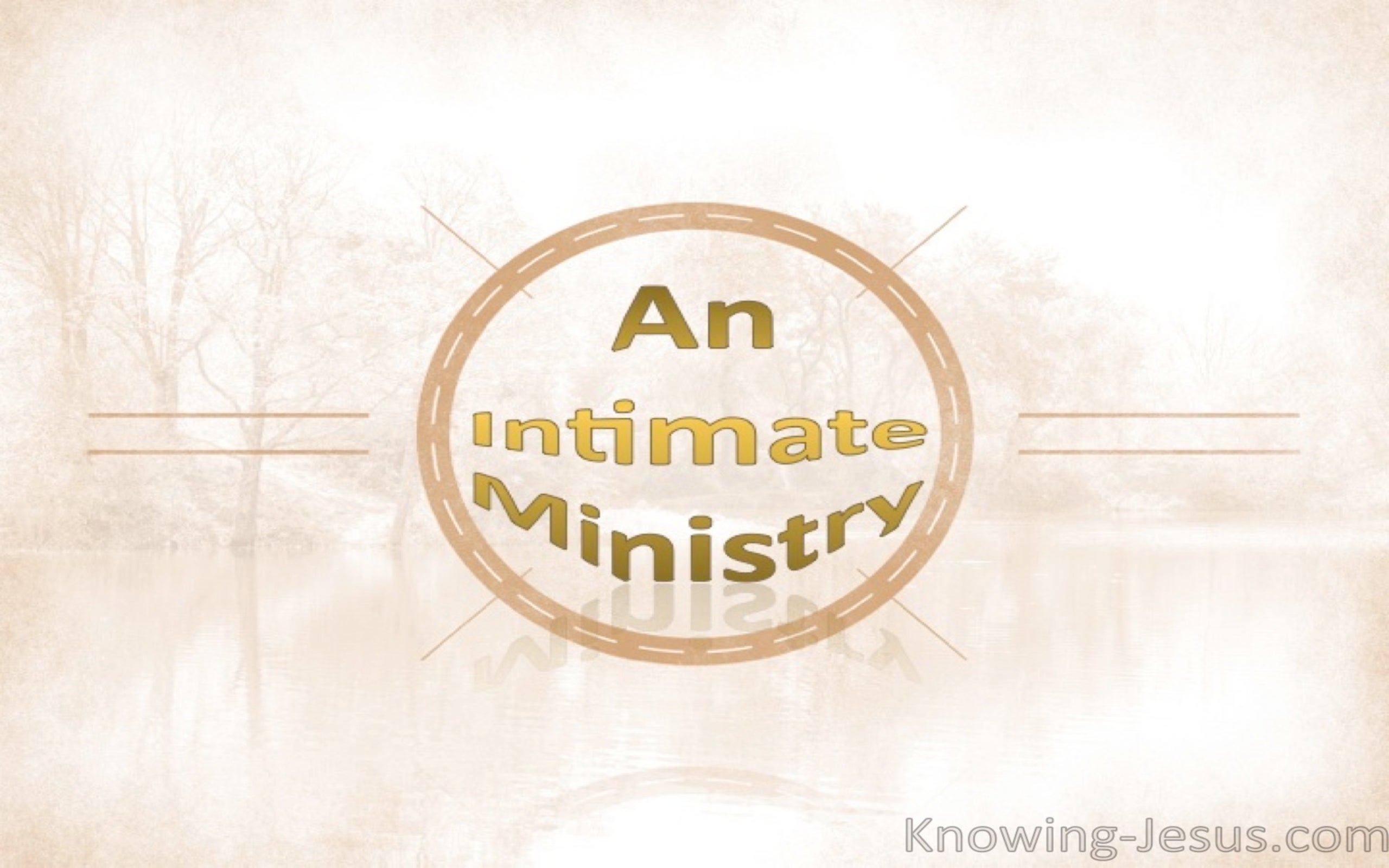 An Intimate Ministry (devotional) (gold)