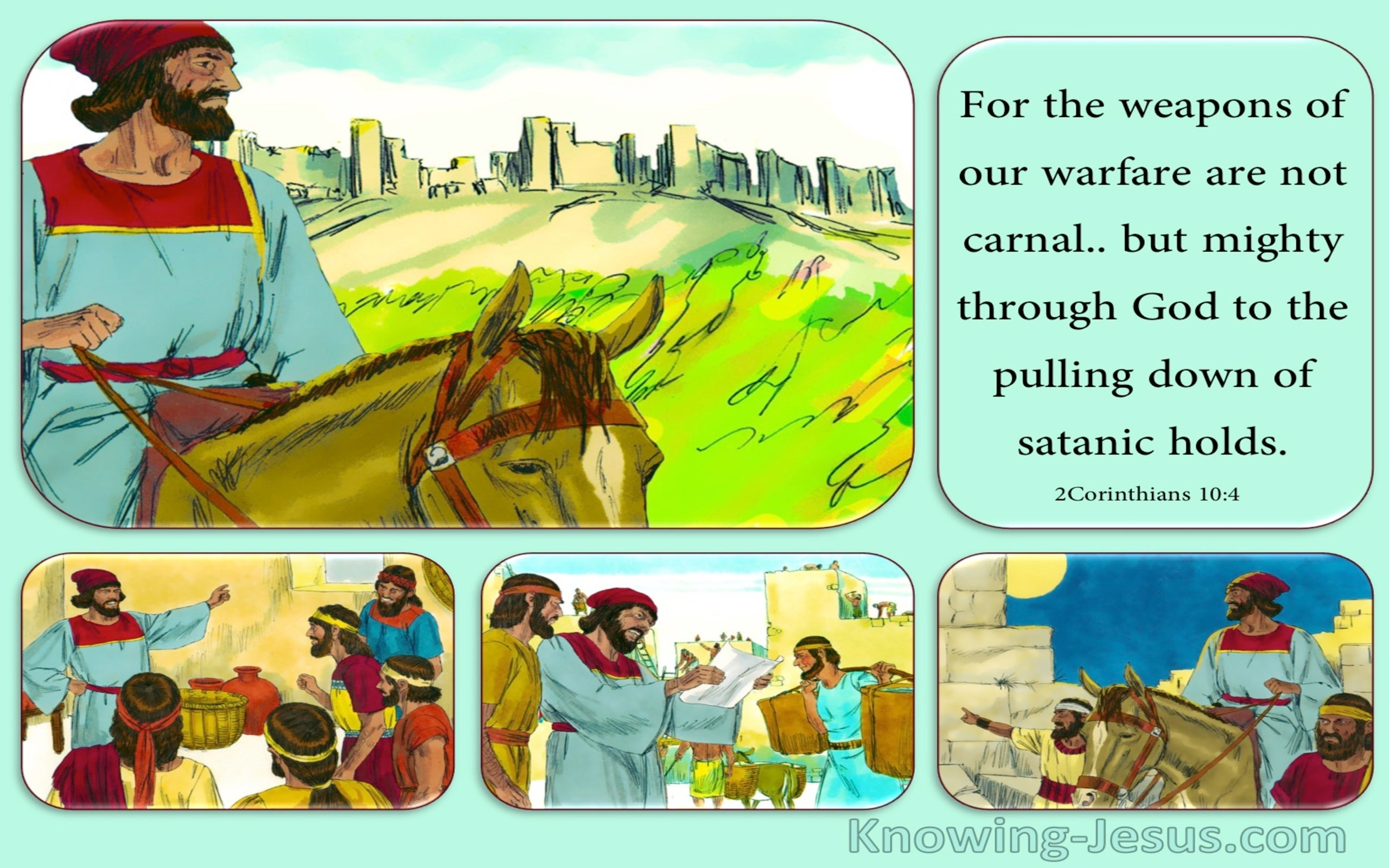 2 Corinthians 10:4 Nehemiah Man of Action (devotional)12:02  (aqua)