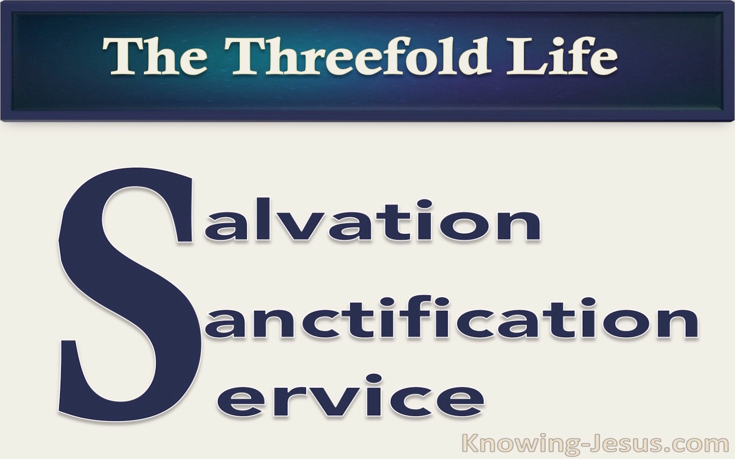 The Threefold Life (devotional) (navy)