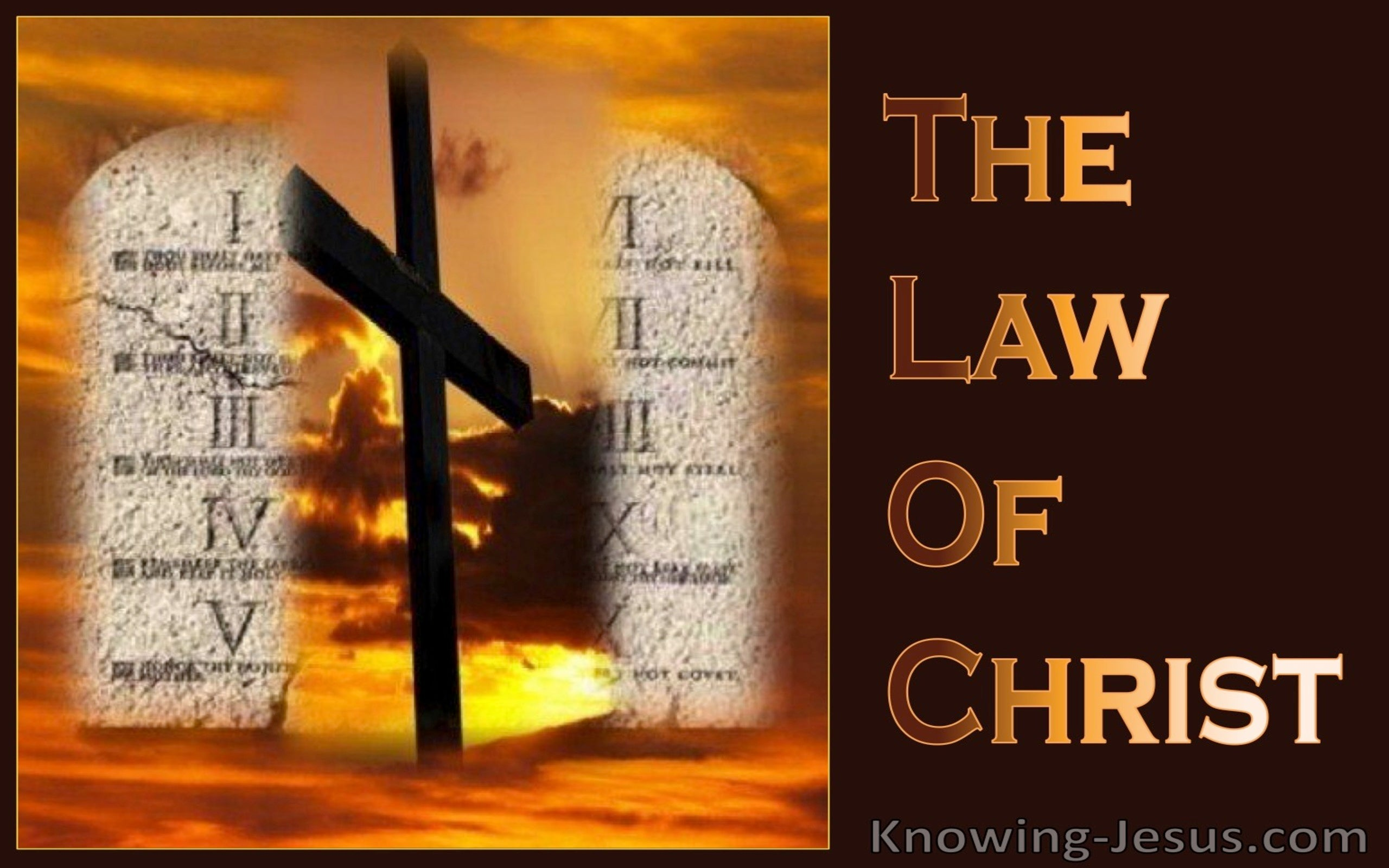 The Law Of Christ (devotional) (brown)