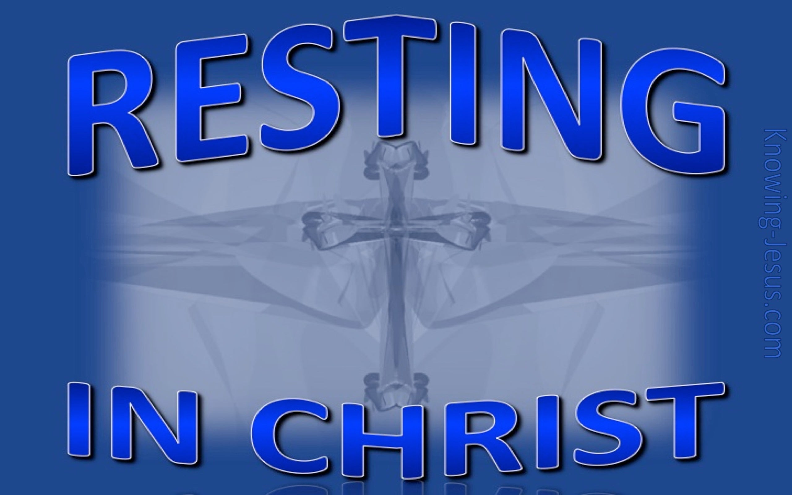 Resting In Christ (blue)