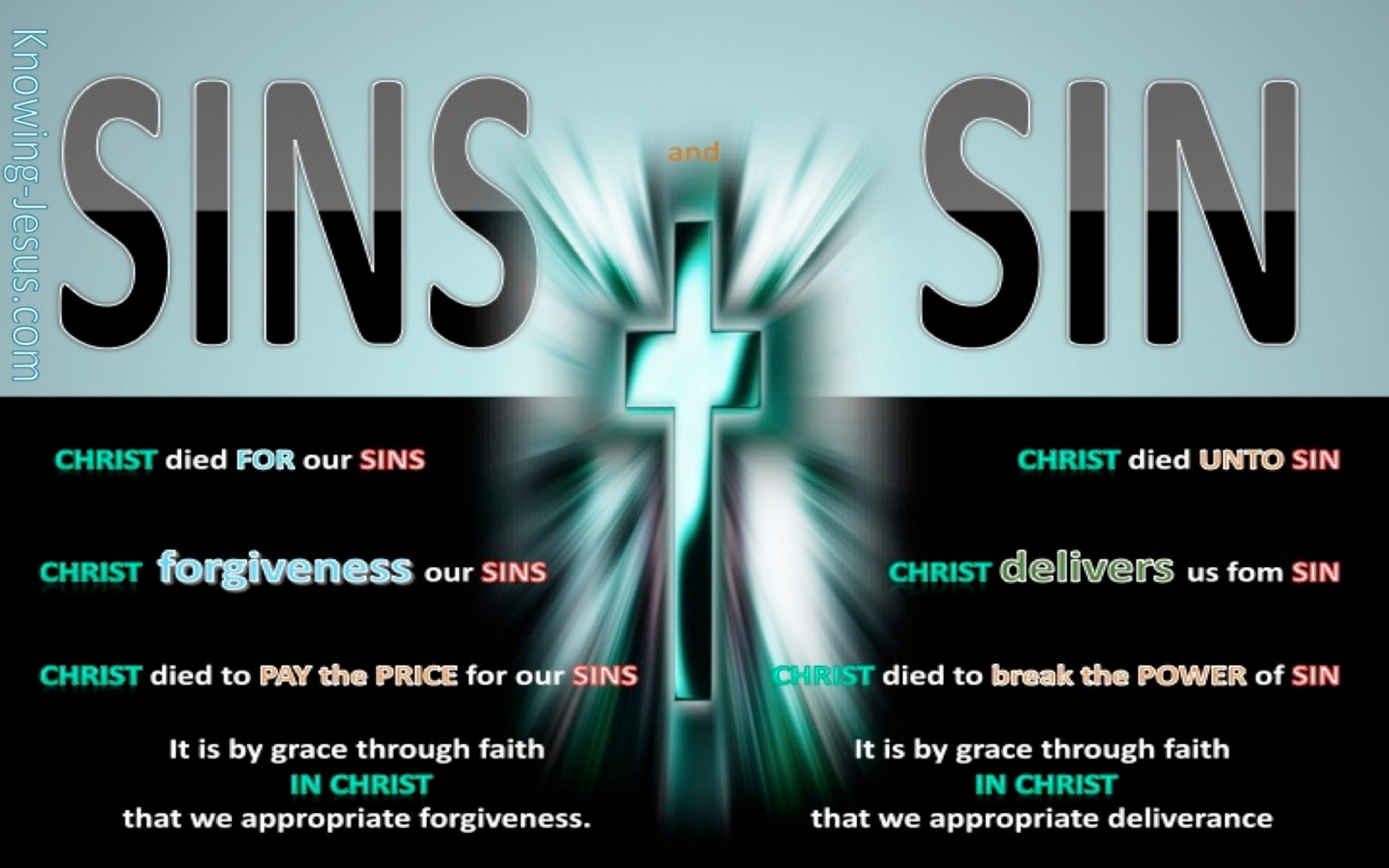 SALVATION - Sins Verses Sin (aqua)