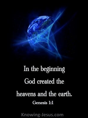 Genesis 1:1 In The Beginning God Created blue 2