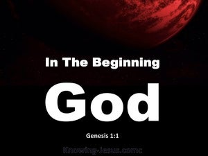 Genesis 1:1 In The Beginning God Created white