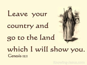 Genesis 12:1 Leave Your Country And Relatives (beige)